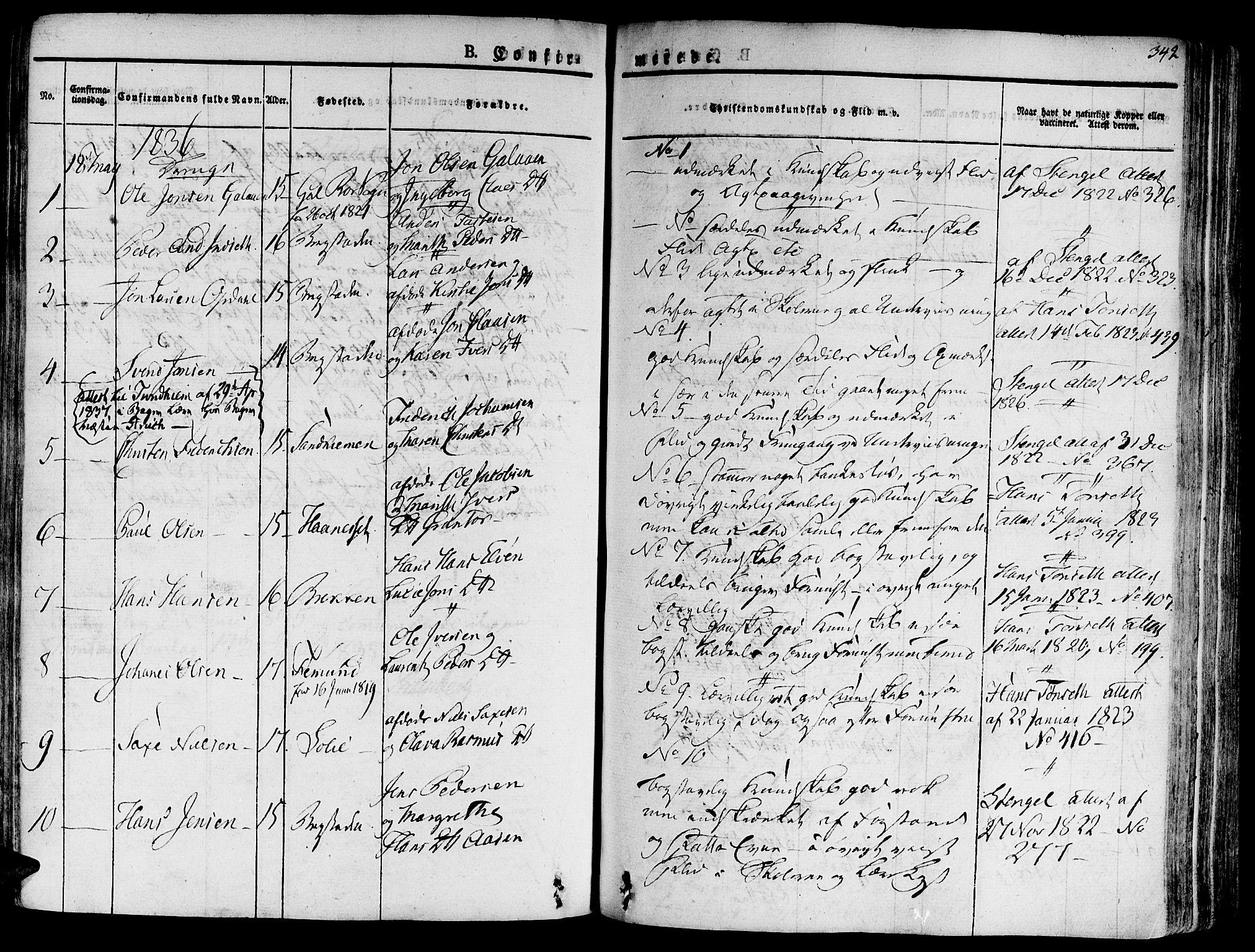 SAT, Ministerialprotokoller, klokkerbøker og fødselsregistre - Sør-Trøndelag, 681/L0930: Ministerialbok nr. 681A08, 1829-1844, s. 342