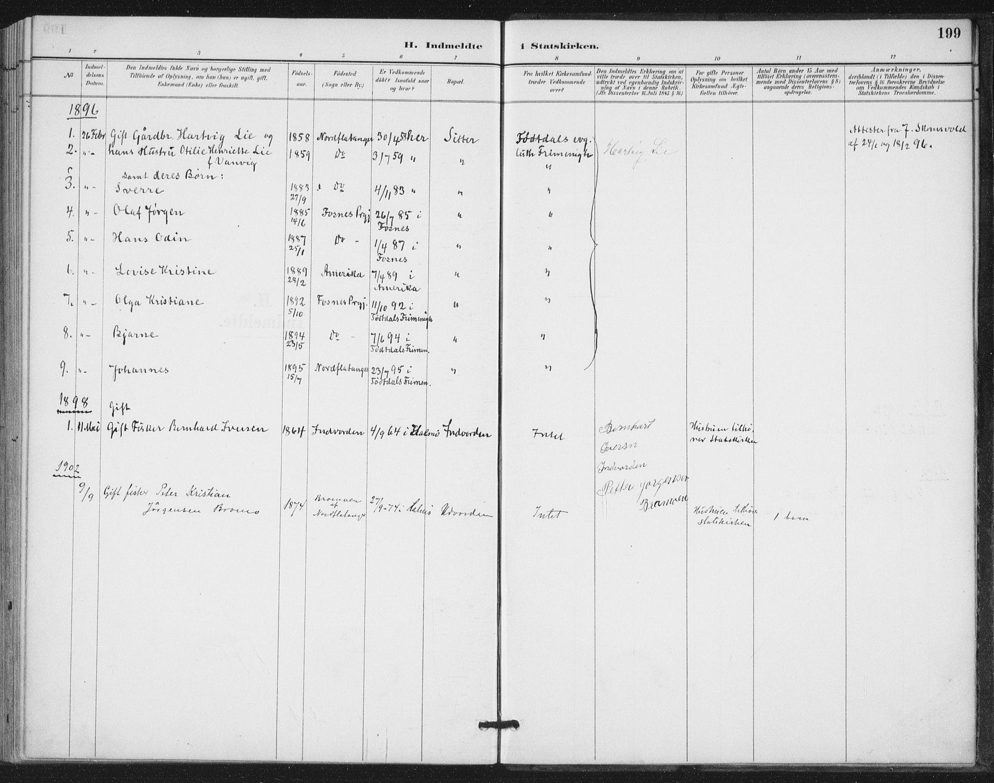 SAT, Ministerialprotokoller, klokkerbøker og fødselsregistre - Nord-Trøndelag, 772/L0603: Ministerialbok nr. 772A01, 1885-1912, s. 199