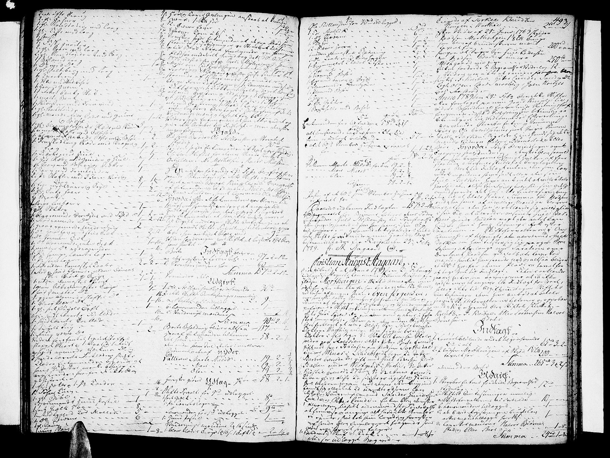 SAO, Tune sorenskriveri, H/Hb/L0002: Skifteprotokoll, 1781-1789, s. 492b-493a