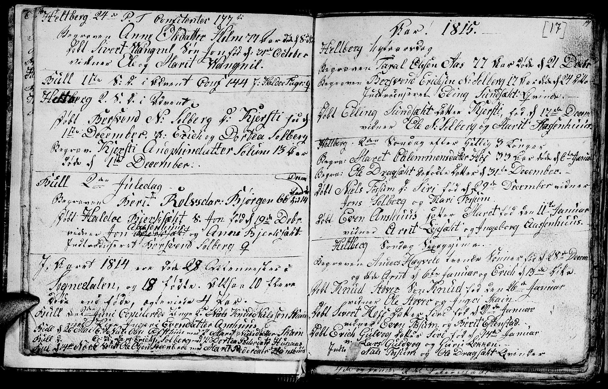 SAT, Ministerialprotokoller, klokkerbøker og fødselsregistre - Sør-Trøndelag, 689/L1042: Klokkerbok nr. 689C01, 1812-1841, s. 16-17