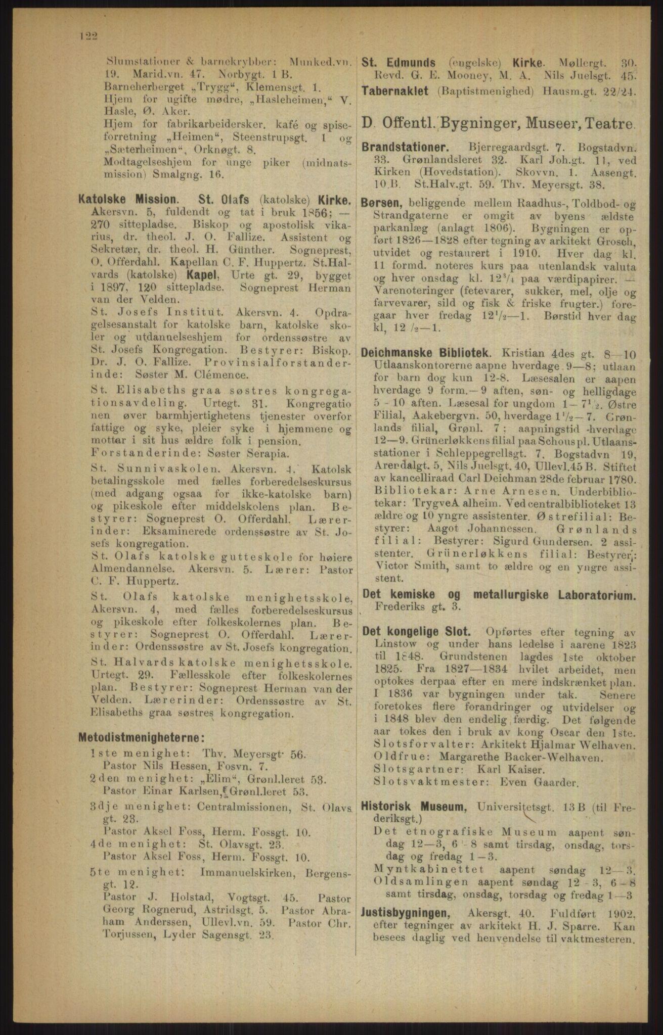 RA, Kristiania adressebok (publikasjon)*, 1915, s. 122