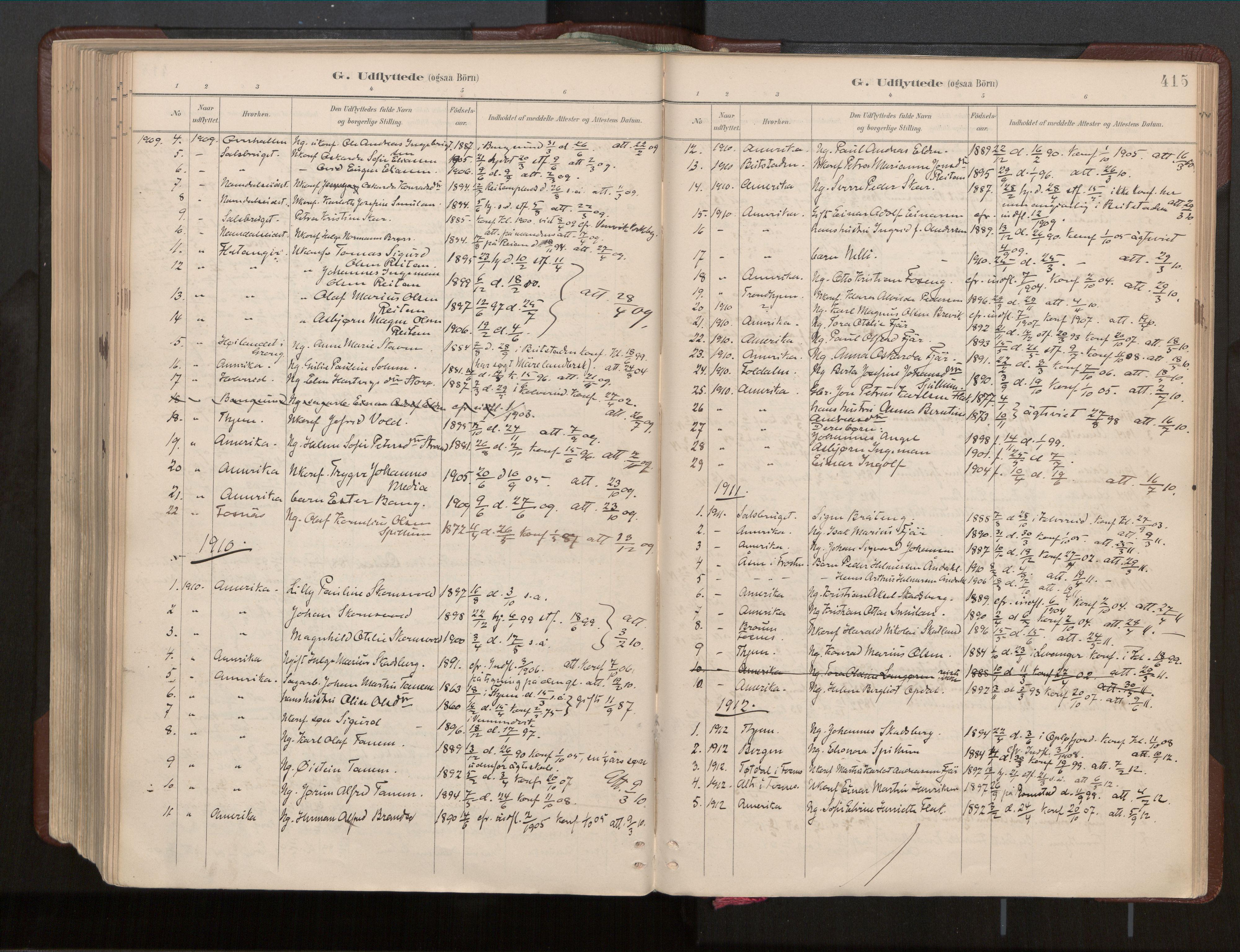SAT, Ministerialprotokoller, klokkerbøker og fødselsregistre - Nord-Trøndelag, 770/L0589: Ministerialbok nr. 770A03, 1887-1929, s. 415