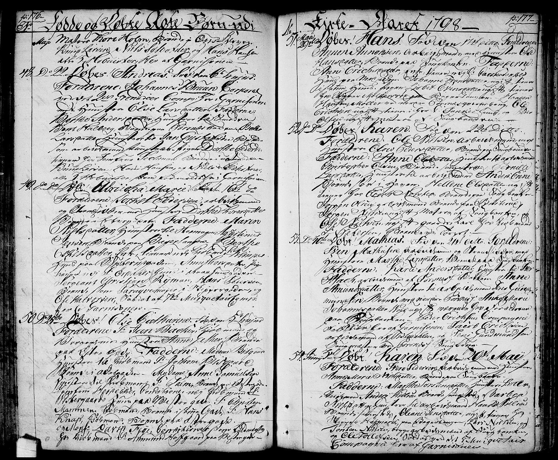 SAO, Halden prestekontor Kirkebøker, F/Fa/L0002: Ministerialbok nr. I 2, 1792-1812, s. 176-177