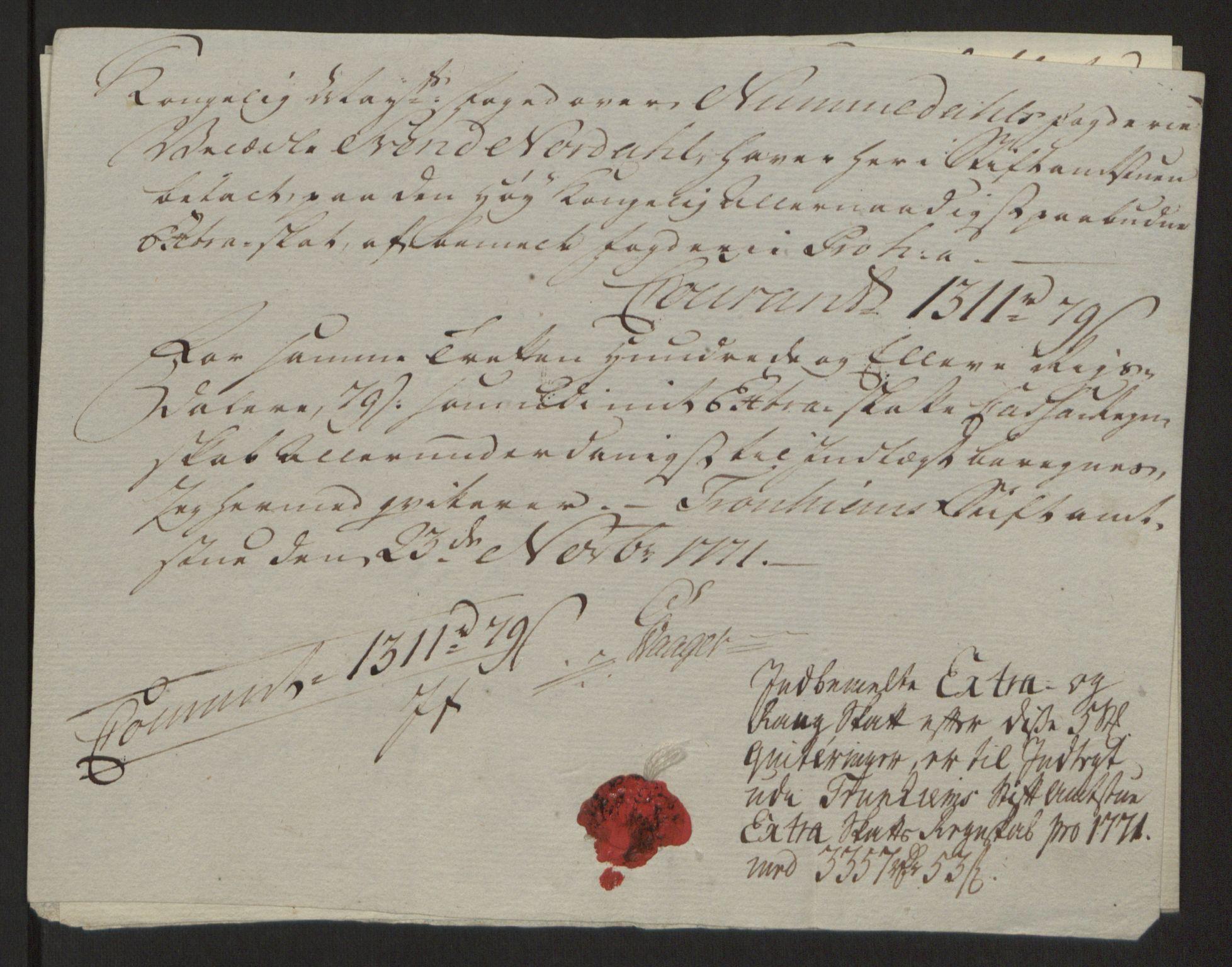 RA, Rentekammeret inntil 1814, Reviderte regnskaper, Fogderegnskap, R64/L4502: Ekstraskatten Namdal, 1762-1772, s. 406