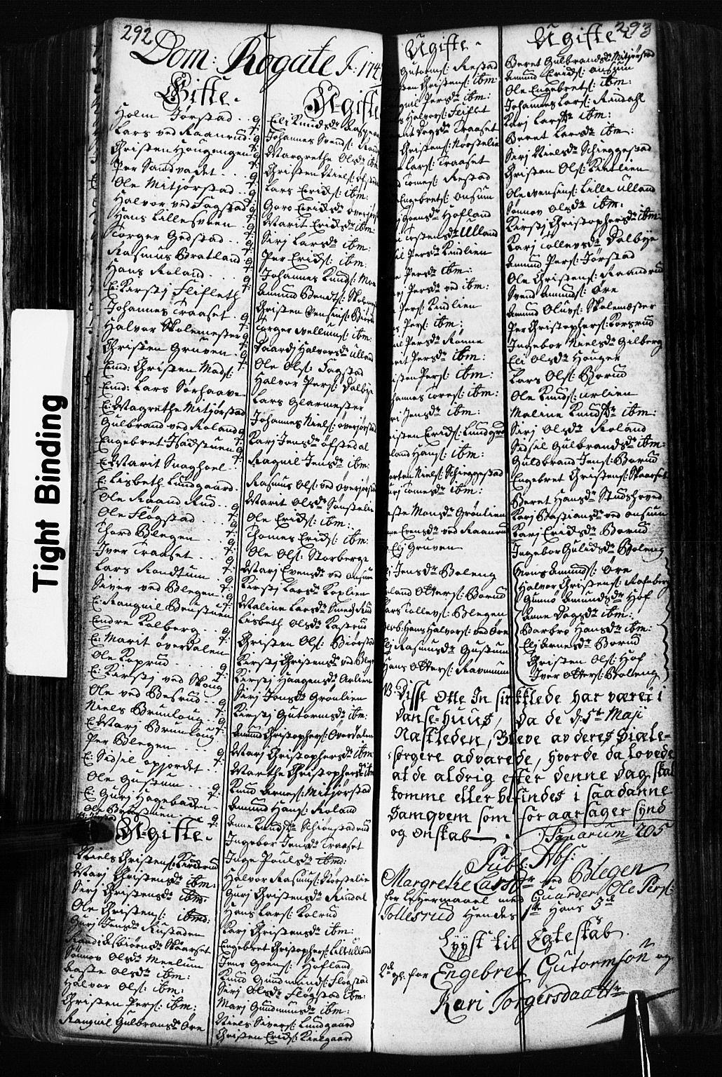 SAH, Fåberg prestekontor, Klokkerbok nr. 2, 1741-1756, s. 292-293