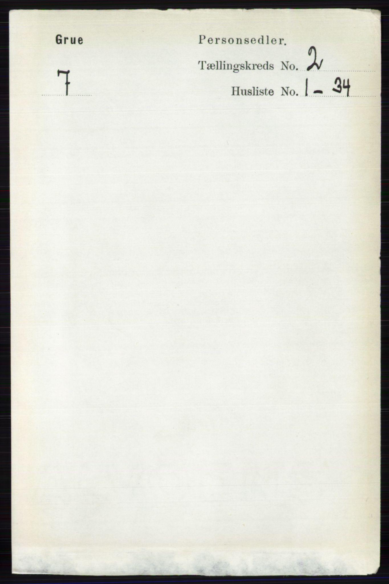 RA, Folketelling 1891 for 0423 Grue herred, 1891, s. 1071