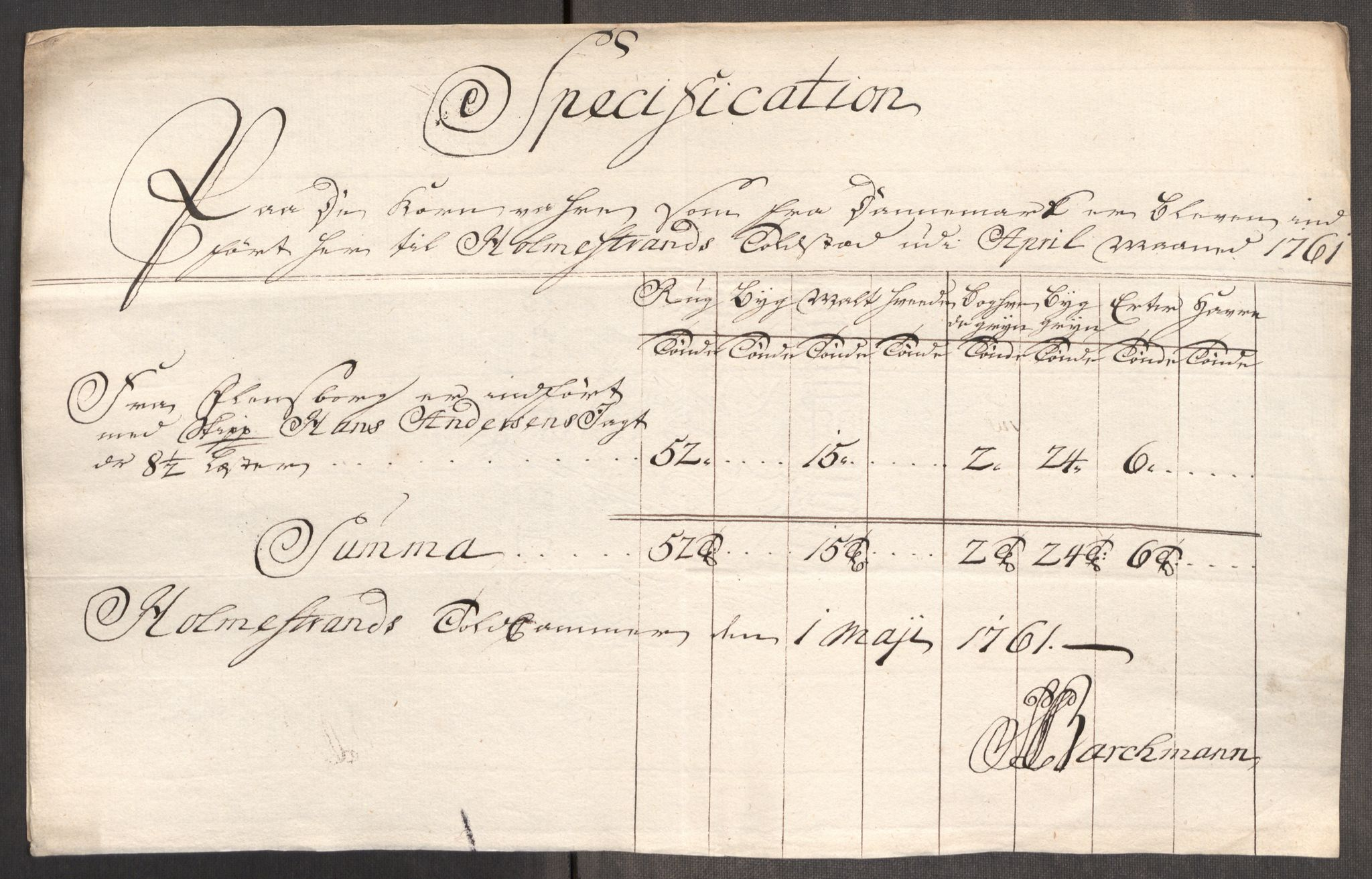 RA, Rentekammeret inntil 1814, Realistisk ordnet avdeling, Oe/L0007: [Ø1]: Priskuranter, 1761-1763, s. 136