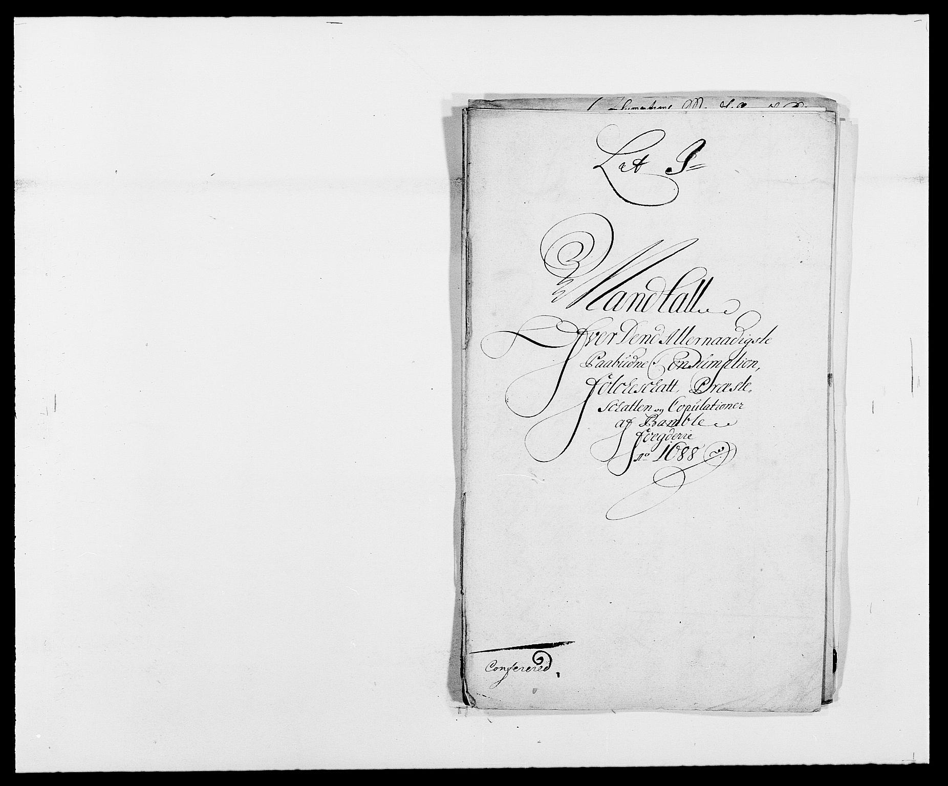 RA, Rentekammeret inntil 1814, Reviderte regnskaper, Fogderegnskap, R34/L2050: Fogderegnskap Bamble, 1688-1691, s. 143