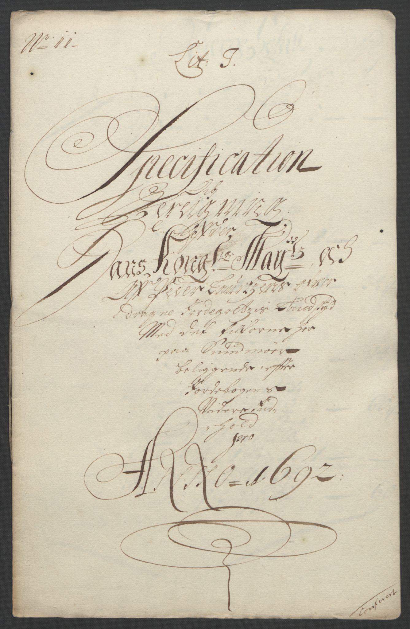 RA, Rentekammeret inntil 1814, Reviderte regnskaper, Fogderegnskap, R54/L3554: Fogderegnskap Sunnmøre, 1691-1693, s. 303