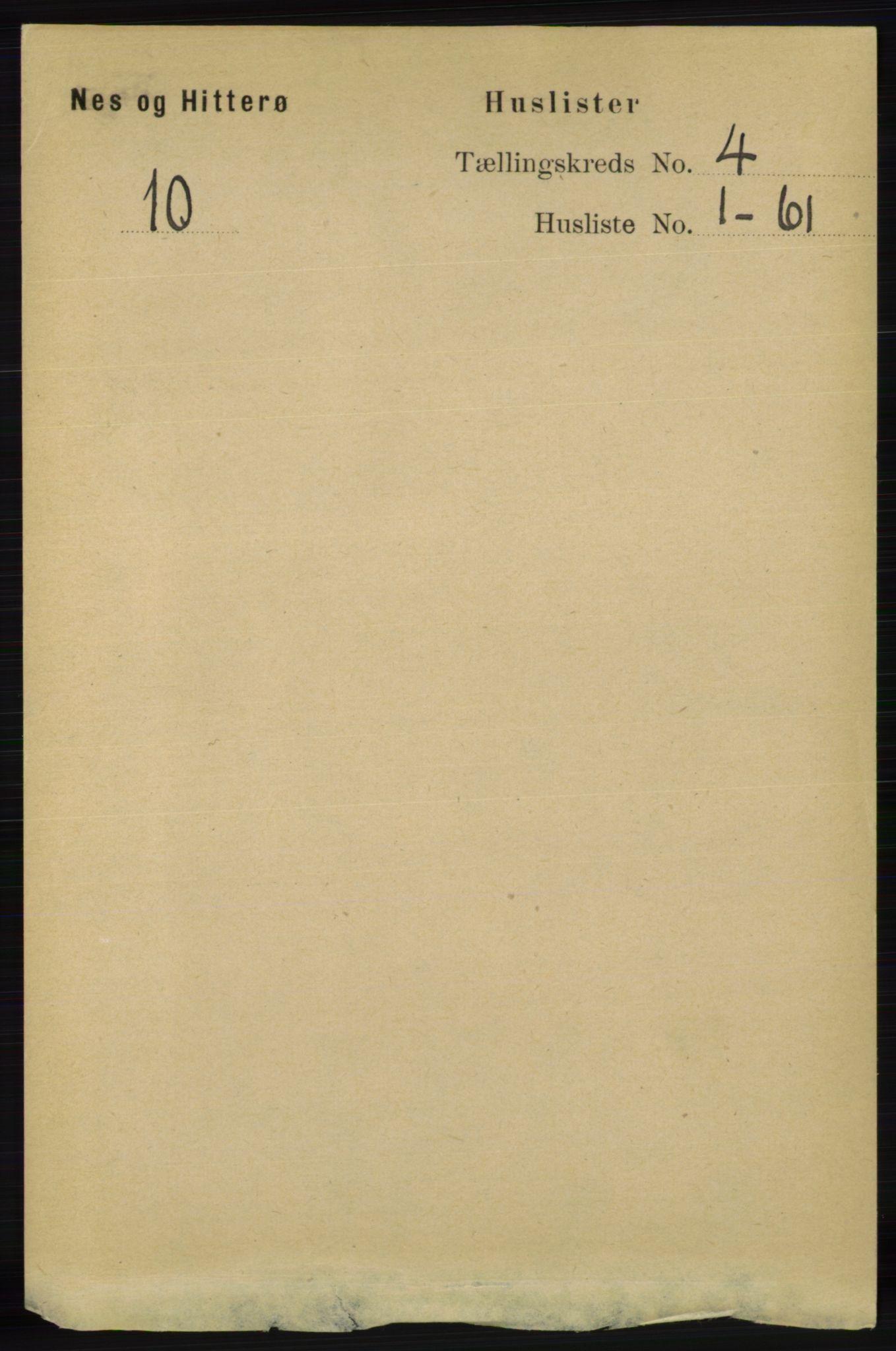 RA, Folketelling 1891 for 1043 Hidra og Nes herred, 1891, s. 1369