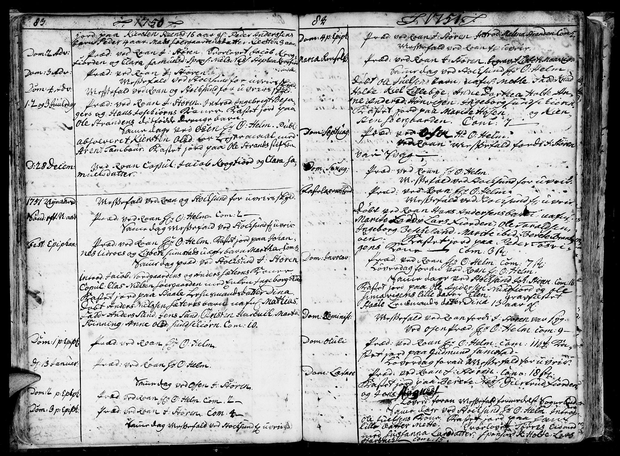 SAT, Ministerialprotokoller, klokkerbøker og fødselsregistre - Sør-Trøndelag, 657/L0700: Ministerialbok nr. 657A01, 1732-1801, s. 82-83