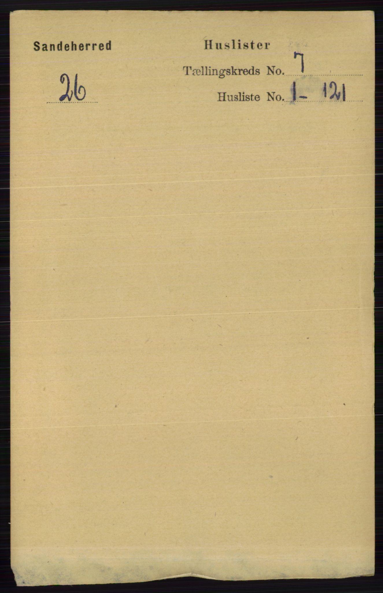 RA, Folketelling 1891 for 0724 Sandeherred herred, 1891, s. 3971