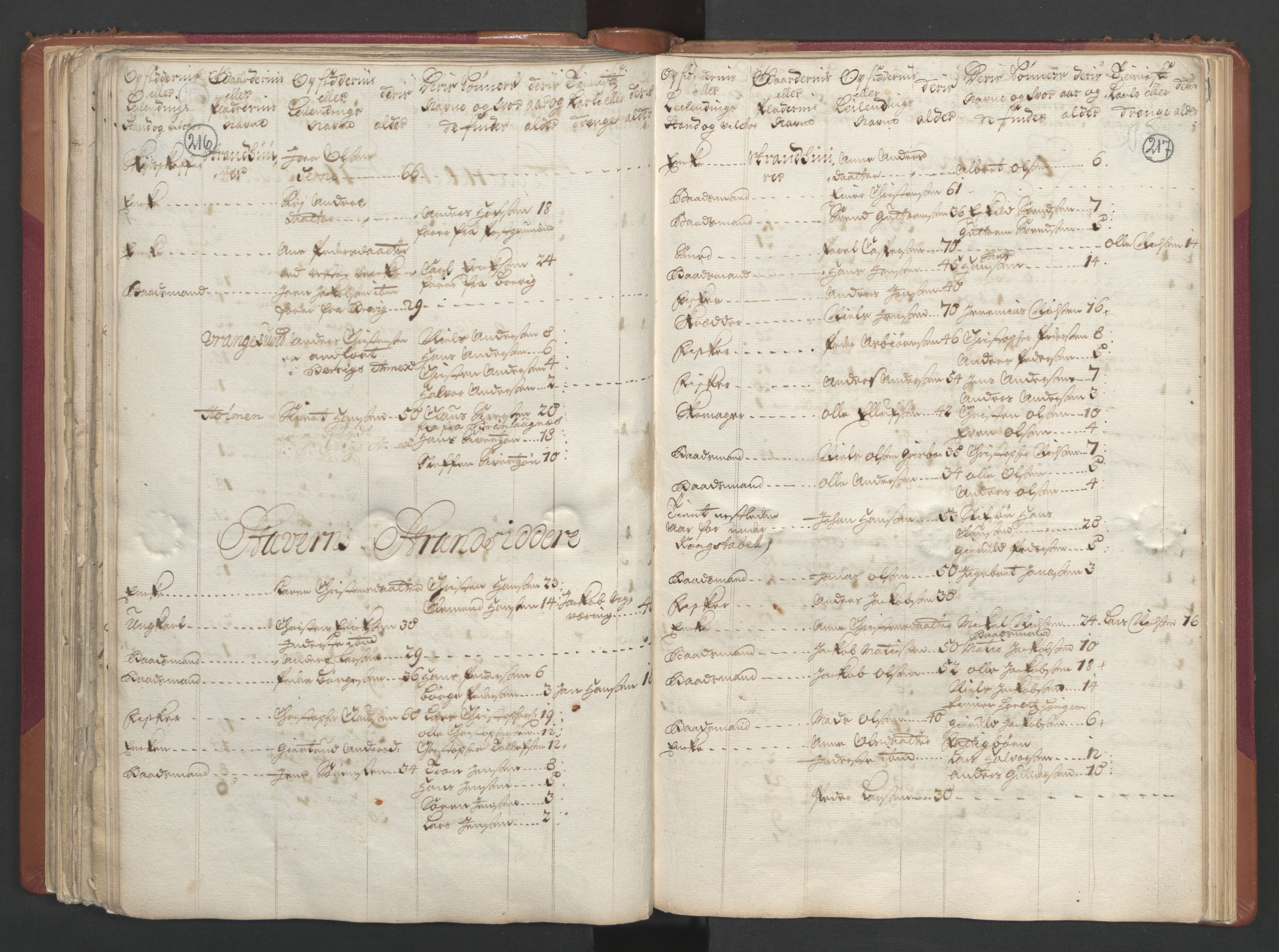 RA, Manntallet 1701, nr. 2: Solør, Odal og Østerdal fogderi og Larvik grevskap, 1701, s. 216-217