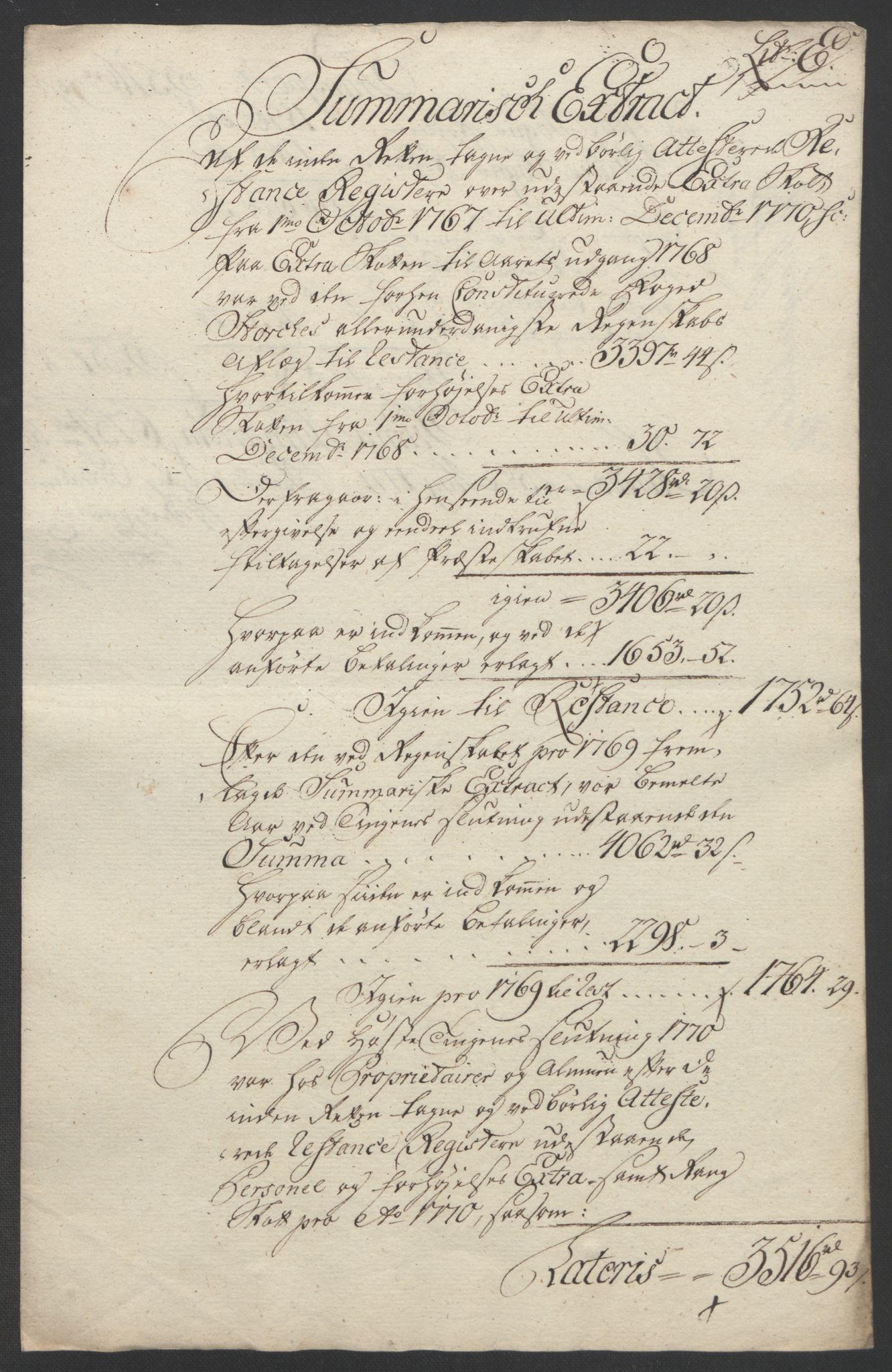 RA, Rentekammeret inntil 1814, Realistisk ordnet avdeling, Ol/L0018: [Gg 10]: Ekstraskatten, 23.09.1762. Sogn, 1762-1772, s. 302