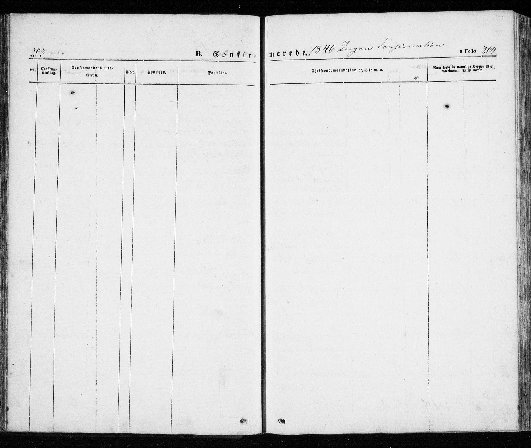 SATØ, Trondenes sokneprestkontor, H/Ha/L0010kirke: Ministerialbok nr. 10, 1840-1865, s. 203-204