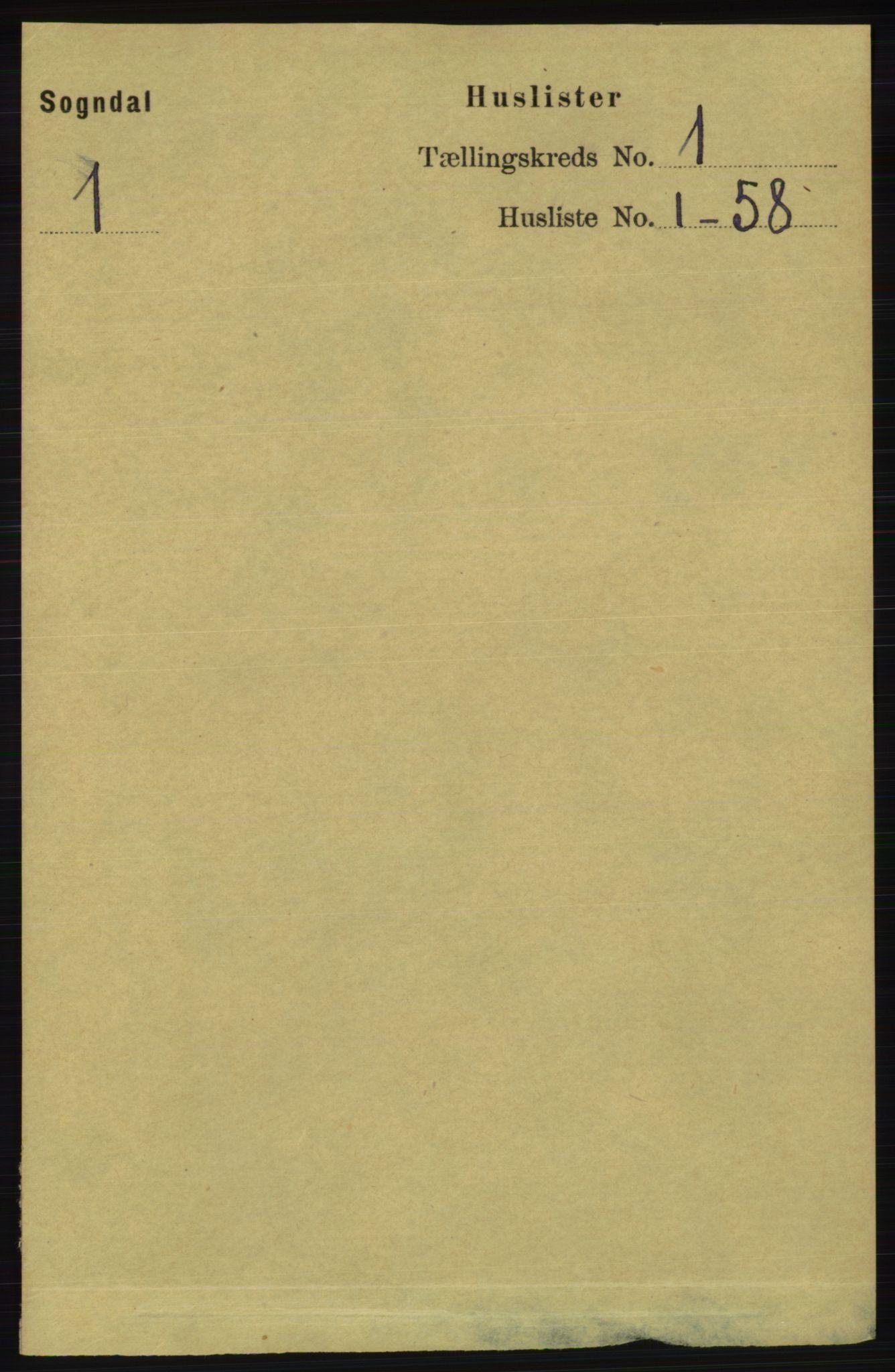 RA, Folketelling 1891 for 1111 Sokndal herred, 1891, s. 23