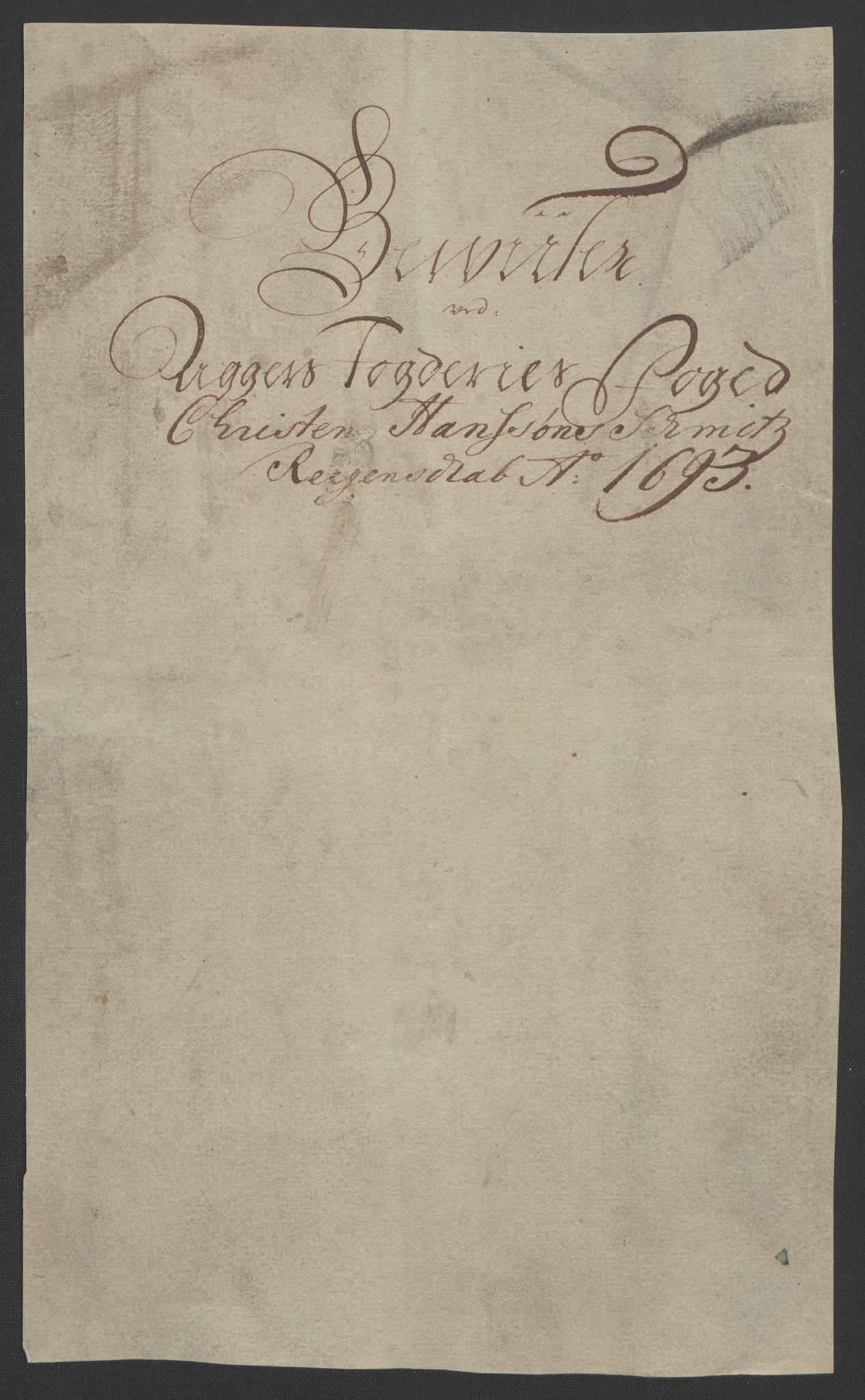 RA, Rentekammeret inntil 1814, Reviderte regnskaper, Fogderegnskap, R08/L0426: Fogderegnskap Aker, 1692-1693, s. 378