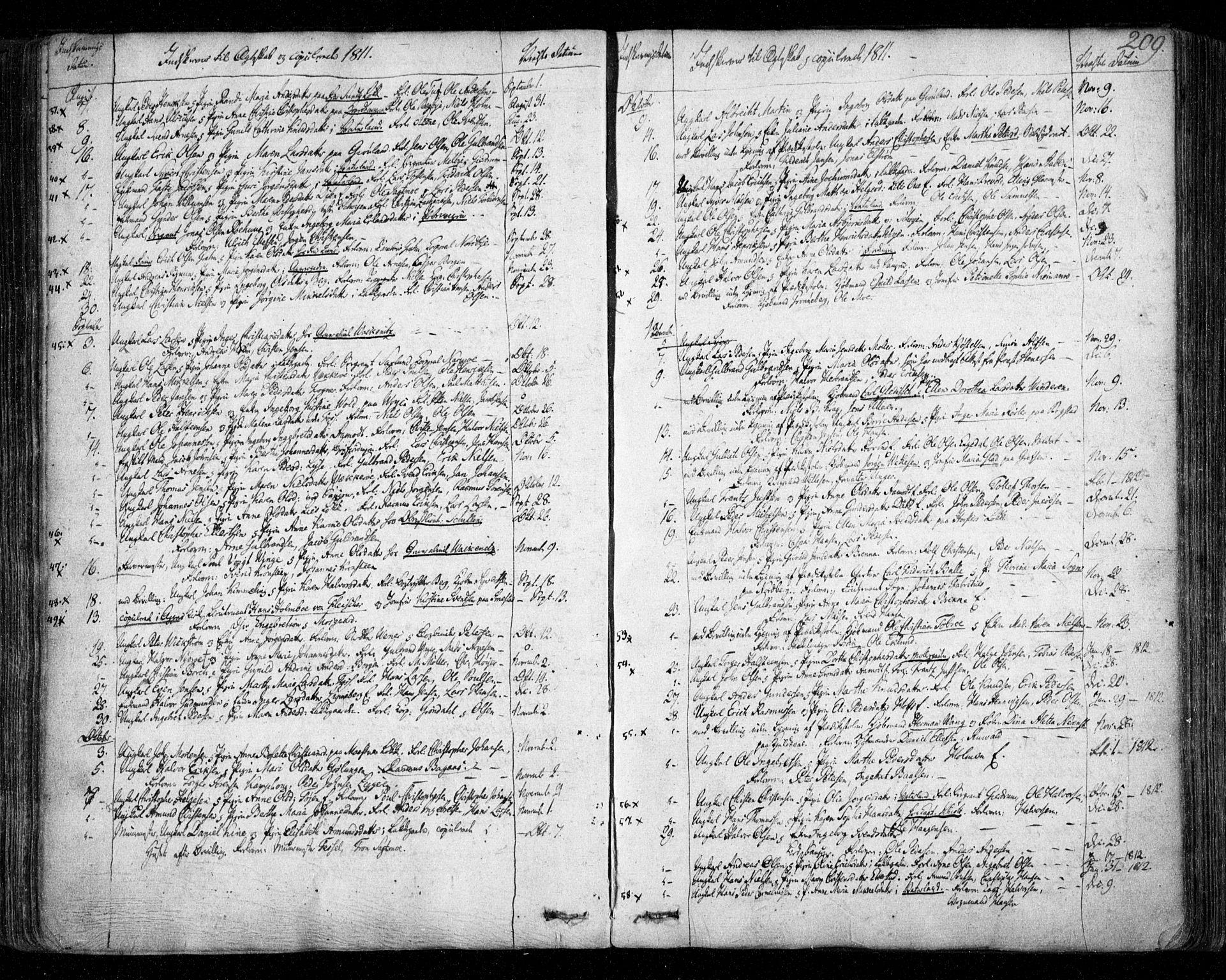 SAO, Aker prestekontor kirkebøker, F/L0011: Ministerialbok nr. 11, 1810-1819, s. 209