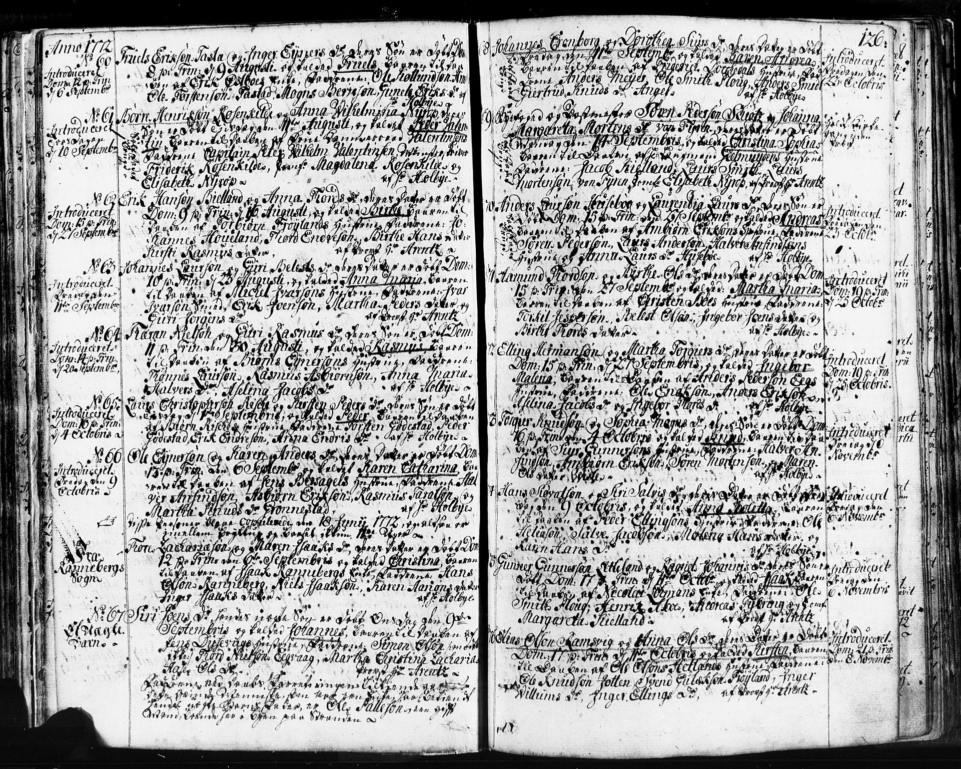 SAST, Domkirken sokneprestkontor, 30/30BB/L0004: Klokkerbok nr. B 4, 1752-1790, s. 126