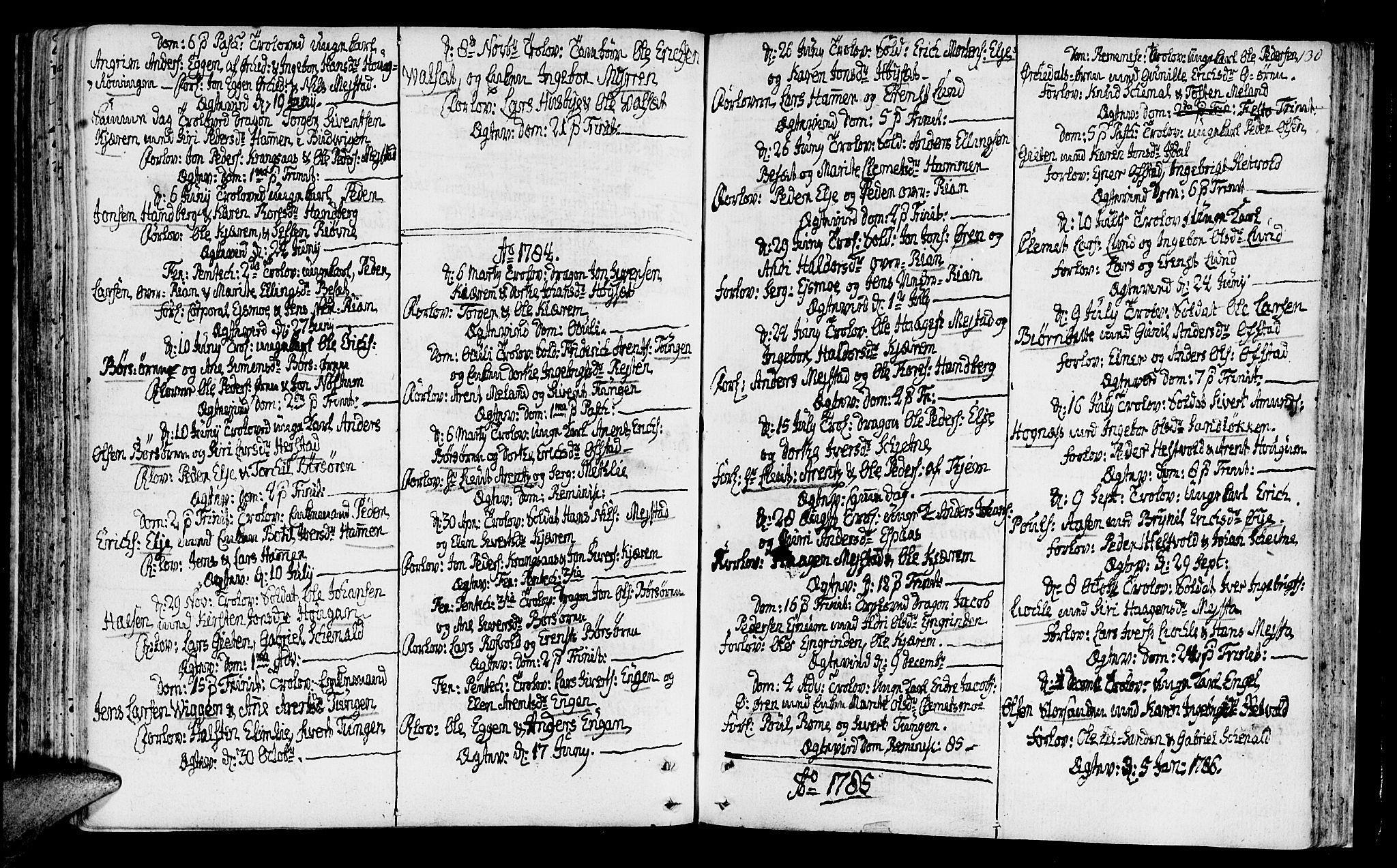 SAT, Ministerialprotokoller, klokkerbøker og fødselsregistre - Sør-Trøndelag, 665/L0768: Ministerialbok nr. 665A03, 1754-1803, s. 130