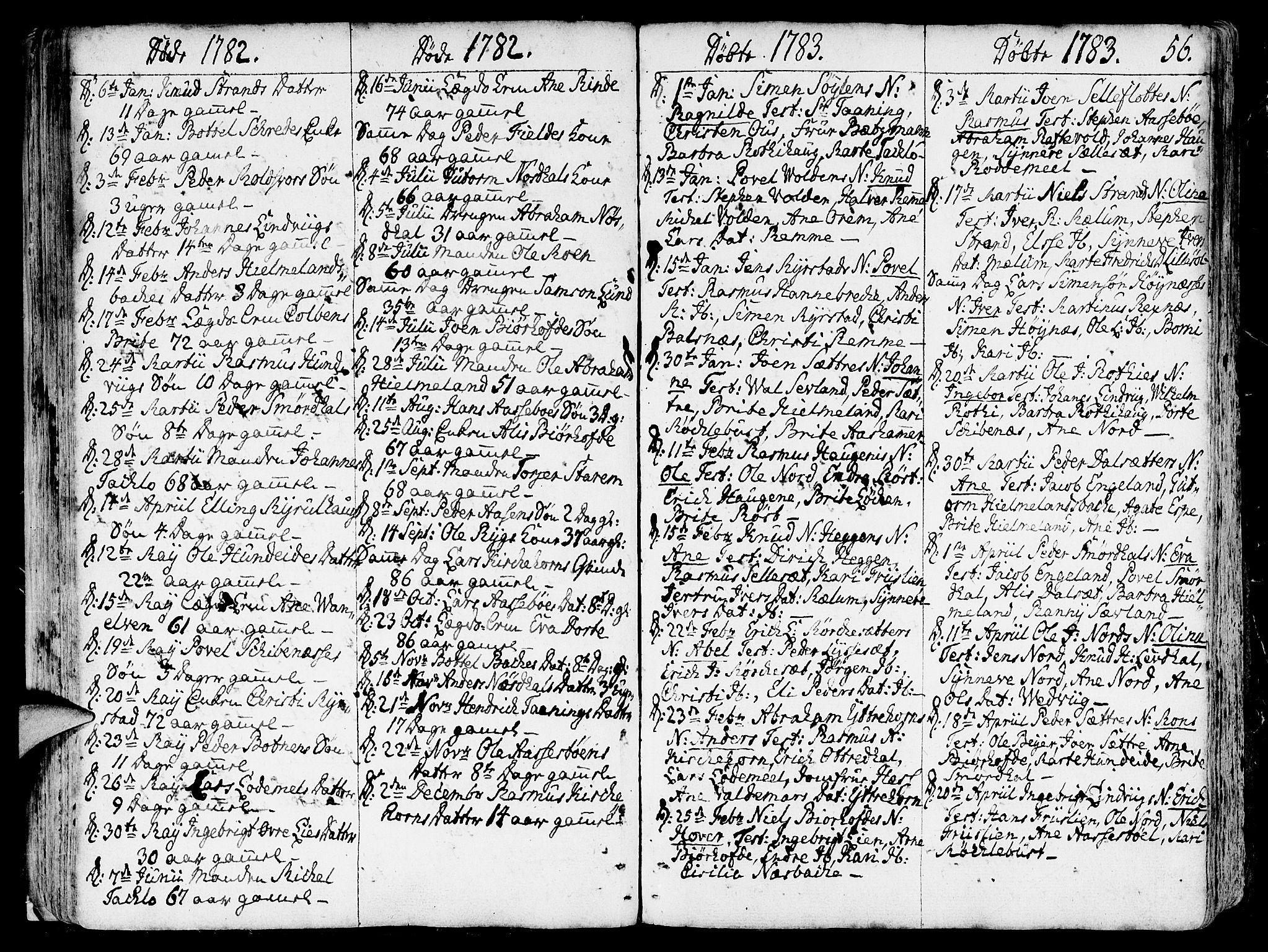 SAB, Eid Sokneprestembete, H/Haa: Ministerialbok nr. A 3, 1770-1805, s. 56
