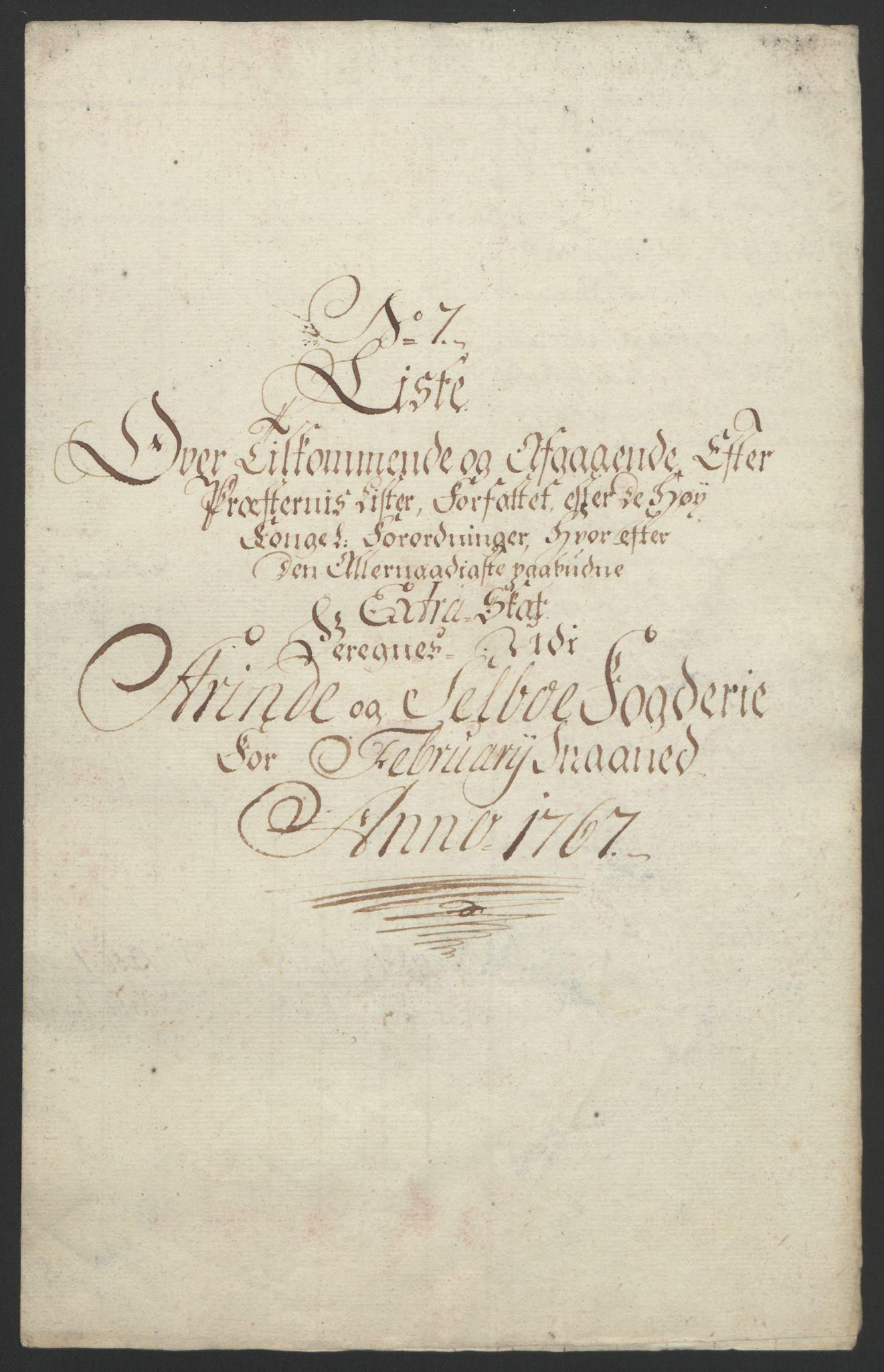 RA, Rentekammeret inntil 1814, Reviderte regnskaper, Fogderegnskap, R61/L4180: Ekstraskatten Strinda og Selbu, 1762-1767, s. 367