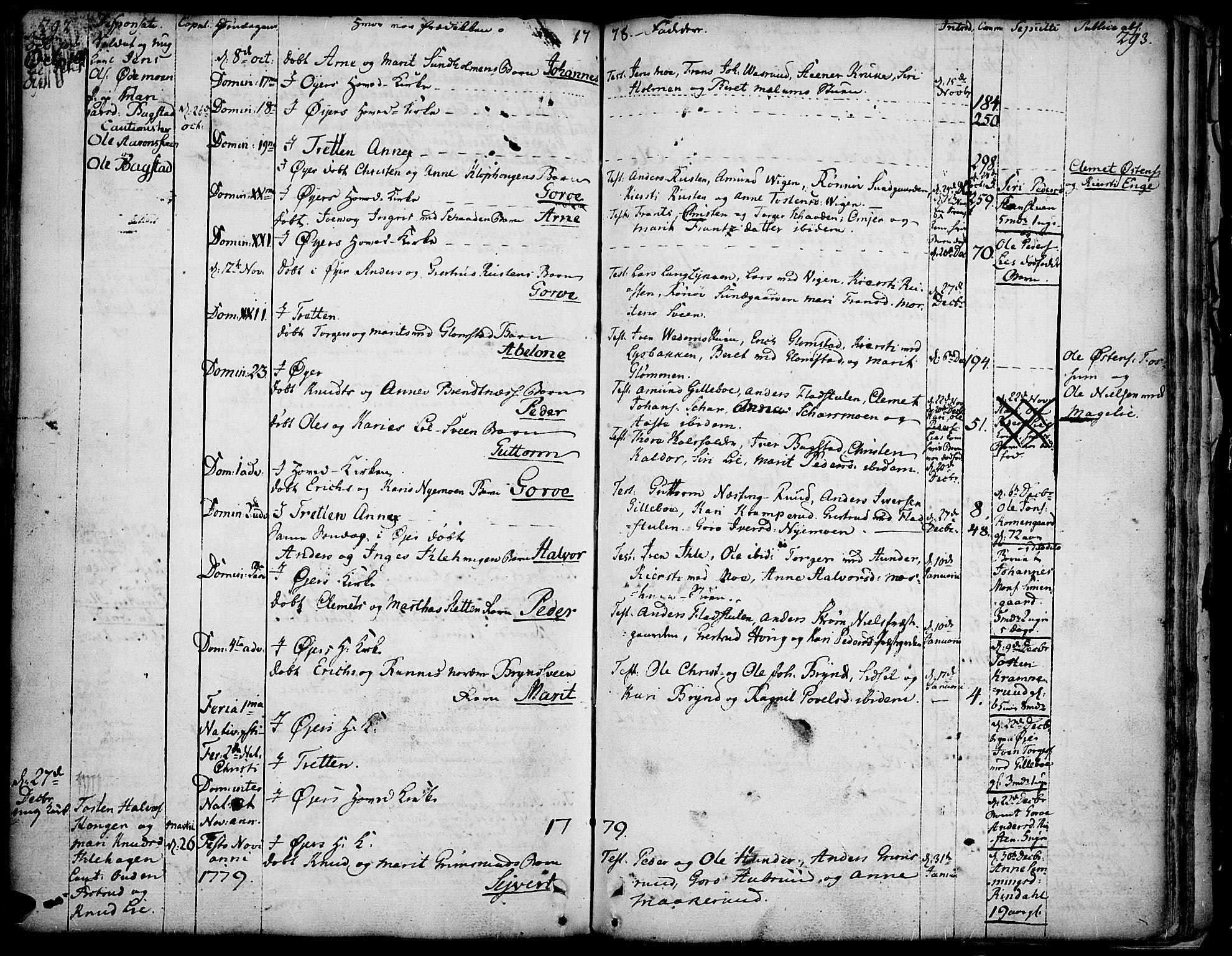 SAH, Øyer prestekontor, Ministerialbok nr. 2, 1733-1784, s. 292-293