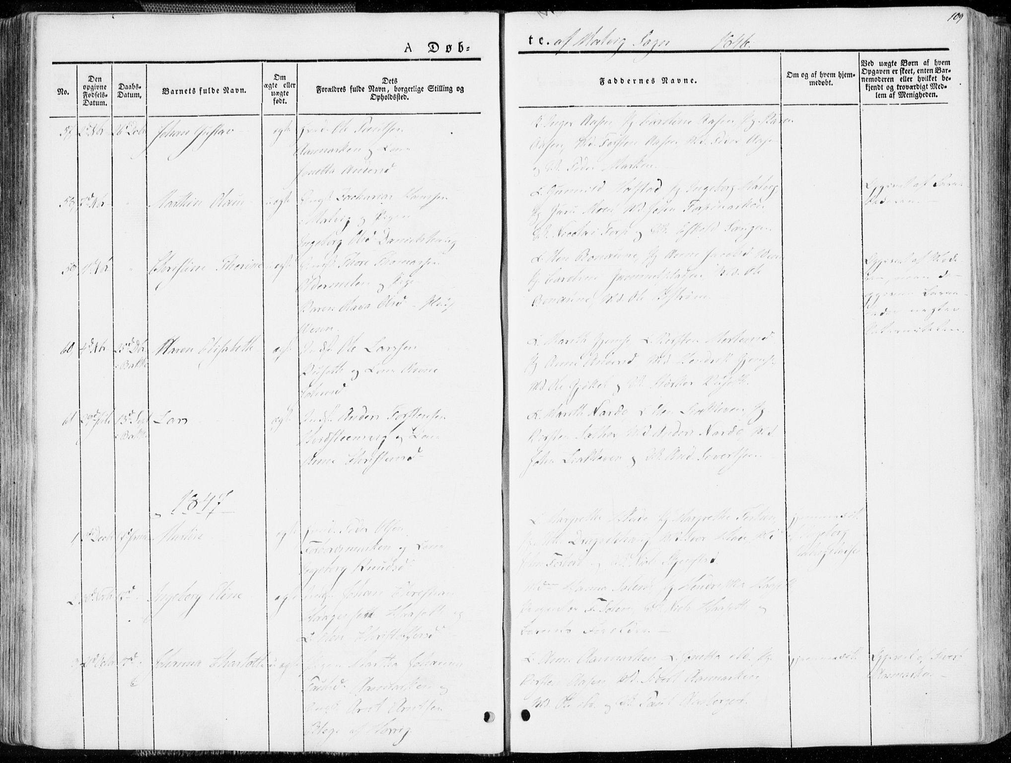 SAT, Ministerialprotokoller, klokkerbøker og fødselsregistre - Sør-Trøndelag, 606/L0290: Ministerialbok nr. 606A05, 1841-1847, s. 109