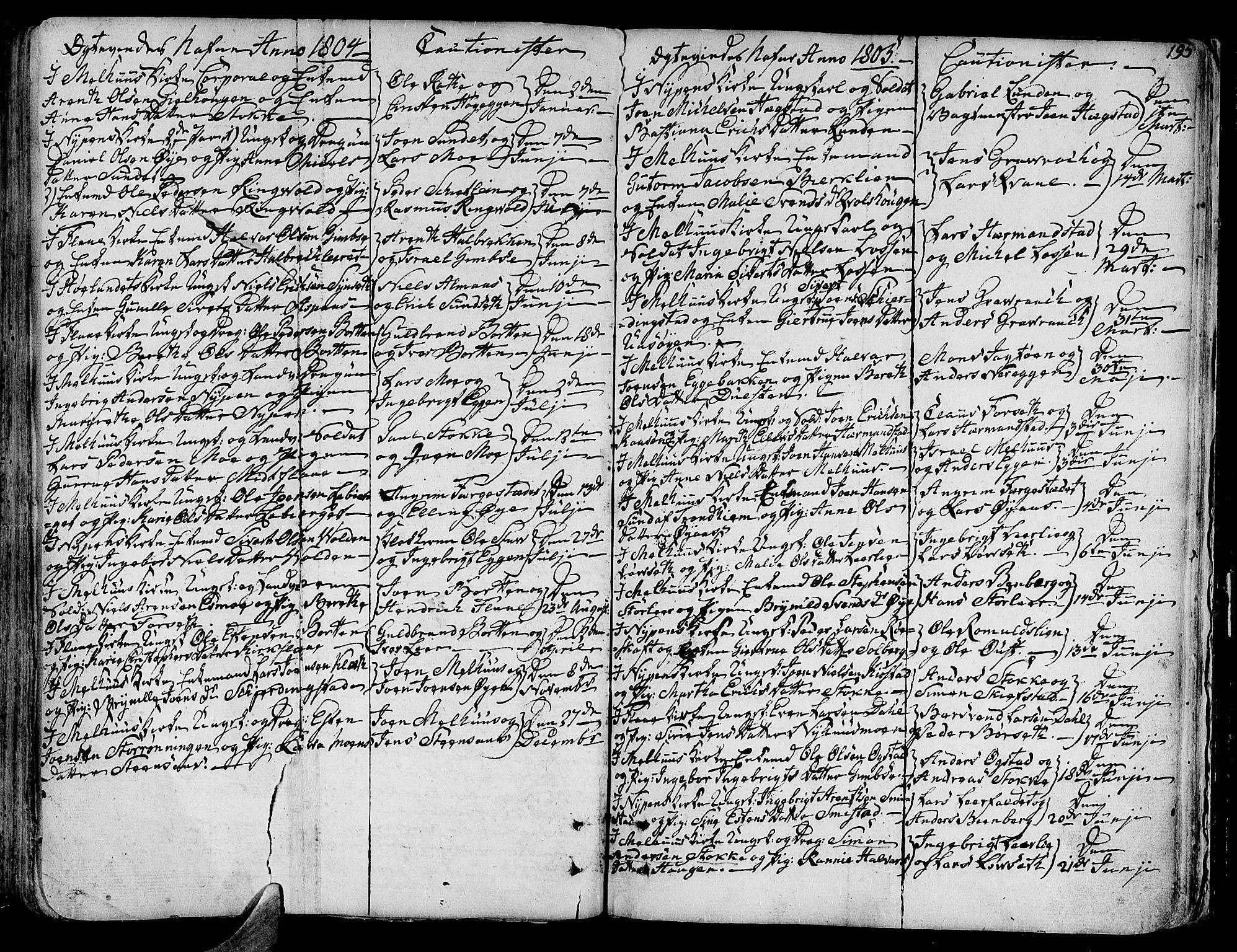 SAT, Ministerialprotokoller, klokkerbøker og fødselsregistre - Sør-Trøndelag, 691/L1061: Ministerialbok nr. 691A02 /1, 1768-1815, s. 195