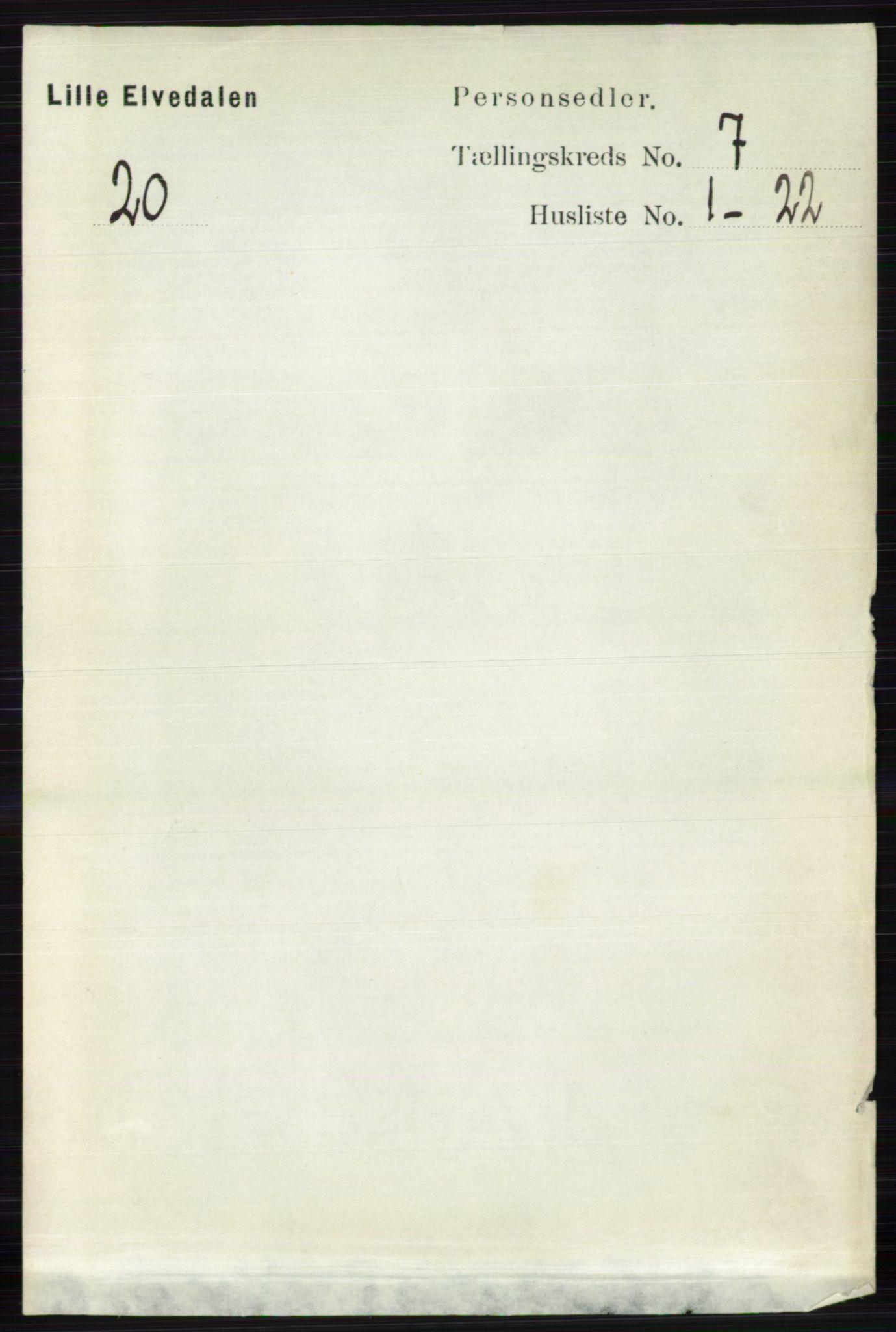 RA, Folketelling 1891 for 0438 Lille Elvedalen herred, 1891, s. 2269