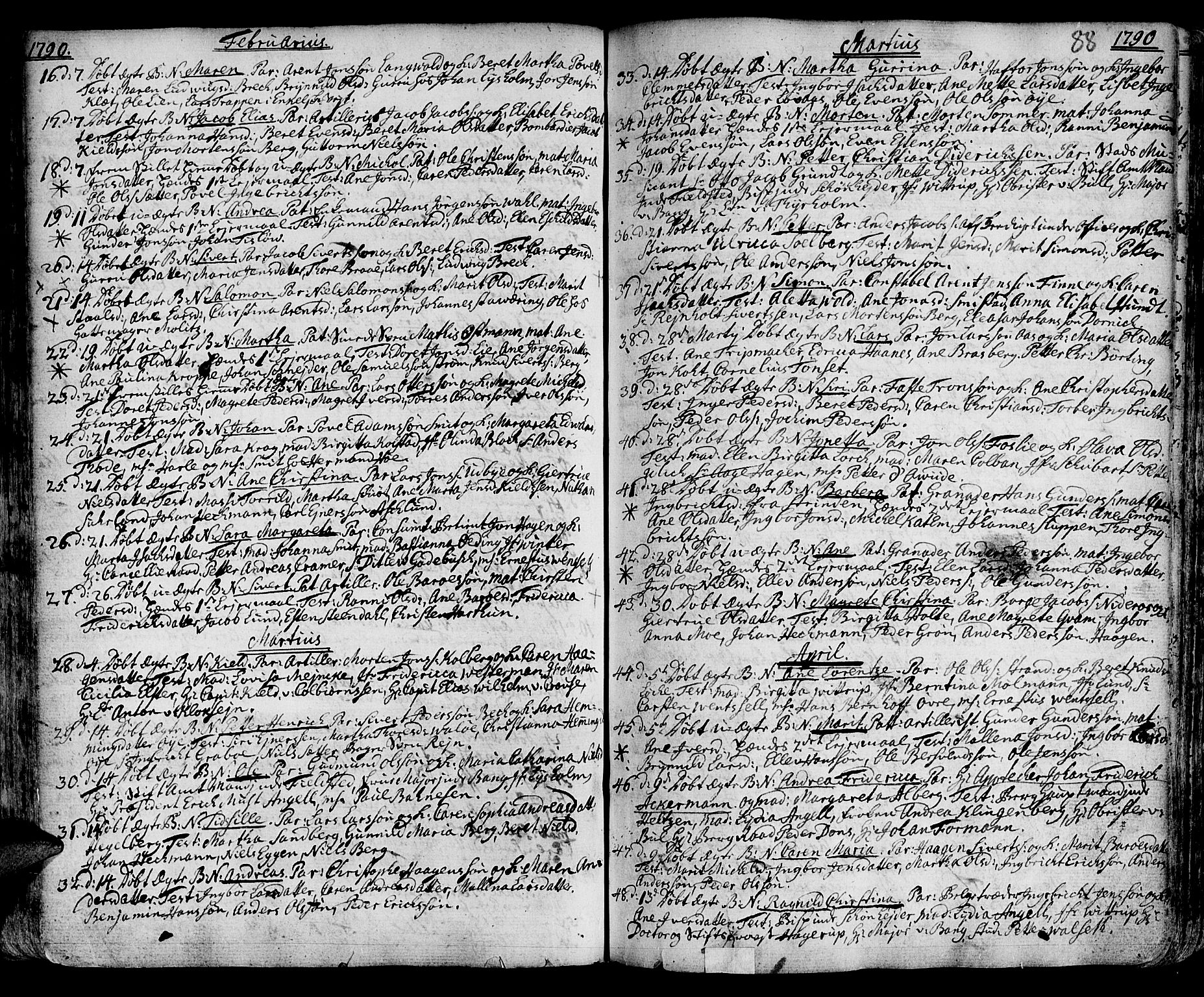SAT, Ministerialprotokoller, klokkerbøker og fødselsregistre - Sør-Trøndelag, 601/L0039: Ministerialbok nr. 601A07, 1770-1819, s. 88