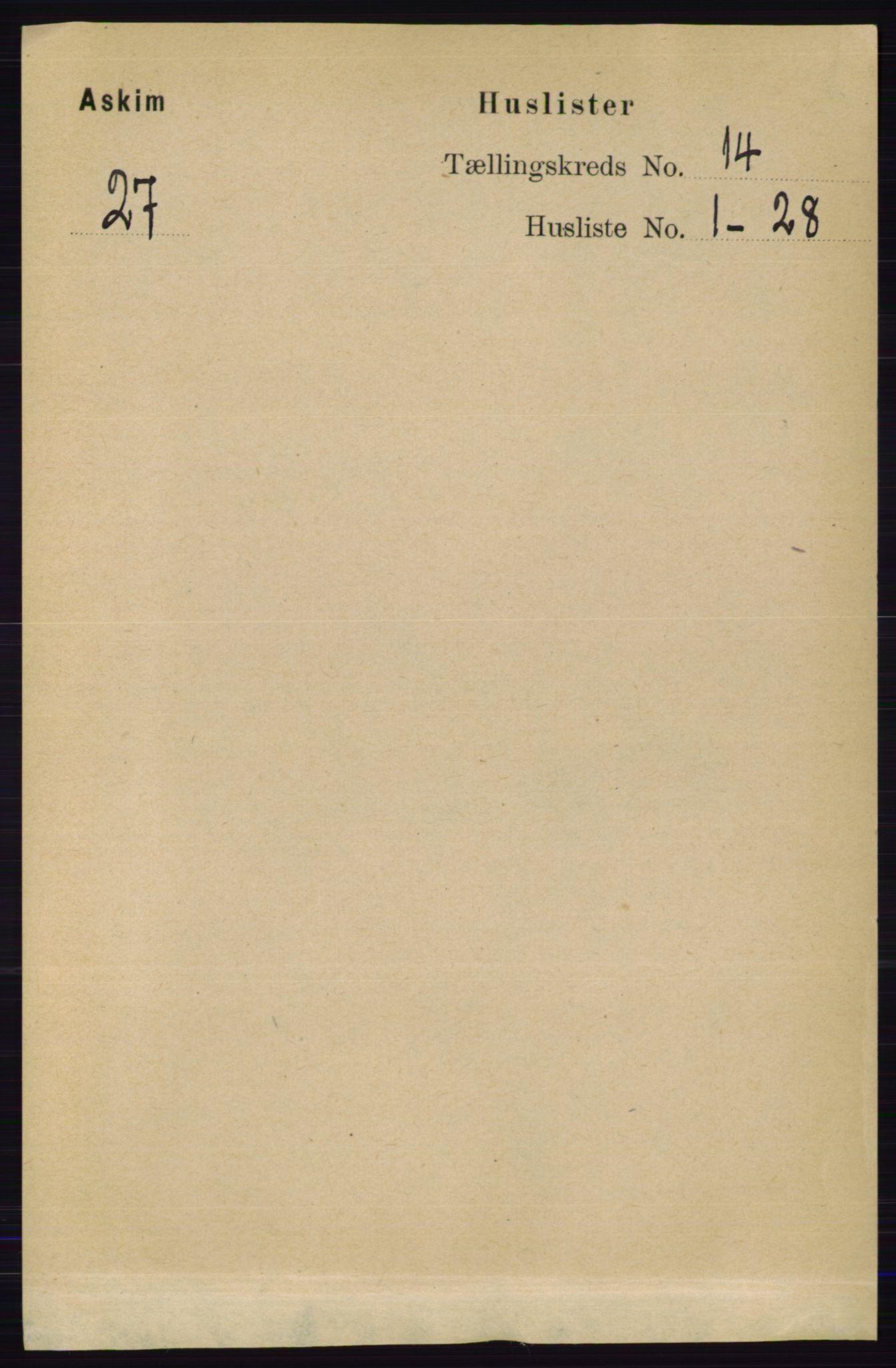 RA, Folketelling 1891 for 0124 Askim herred, 1891, s. 2215