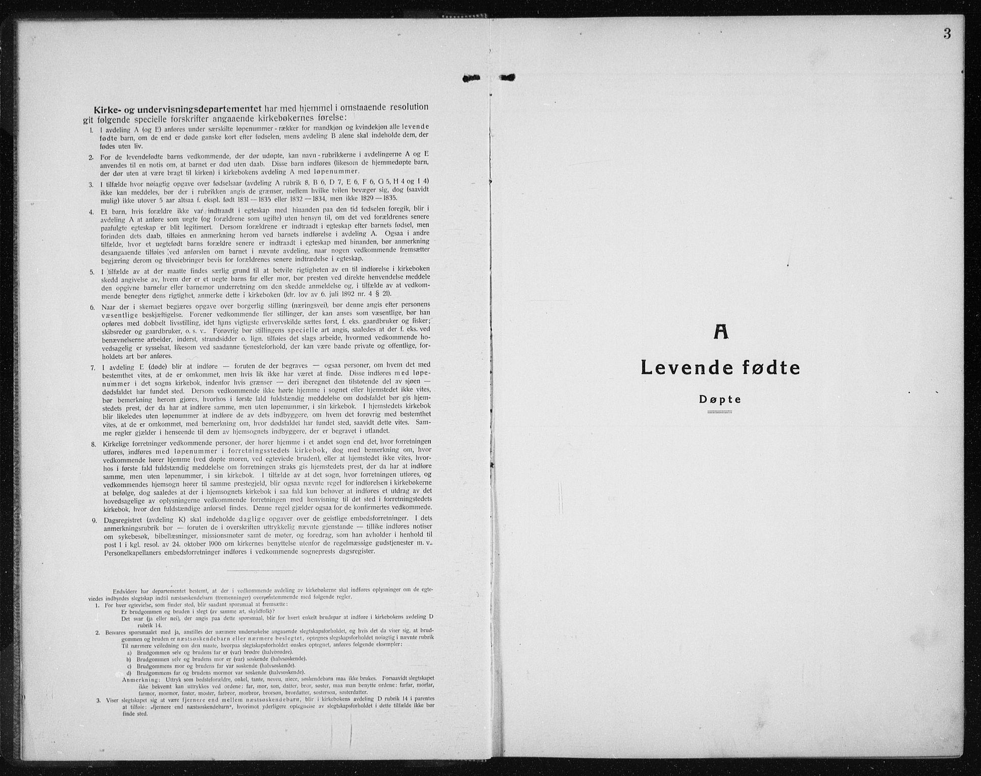SAT, Ministerialprotokoller, klokkerbøker og fødselsregistre - Sør-Trøndelag, 689/L1045: Klokkerbok nr. 689C04, 1923-1940, s. 3