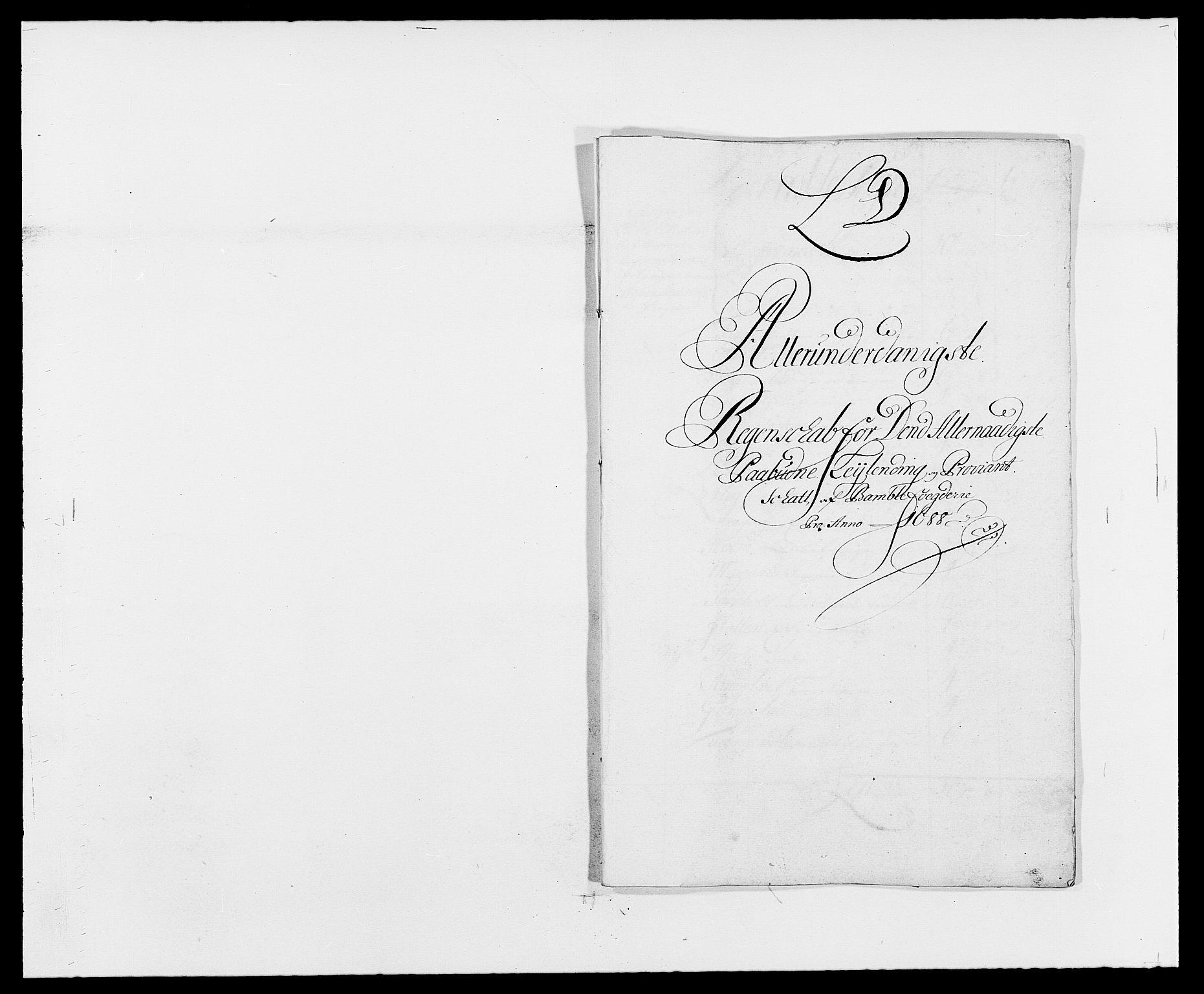 RA, Rentekammeret inntil 1814, Reviderte regnskaper, Fogderegnskap, R34/L2050: Fogderegnskap Bamble, 1688-1691, s. 80