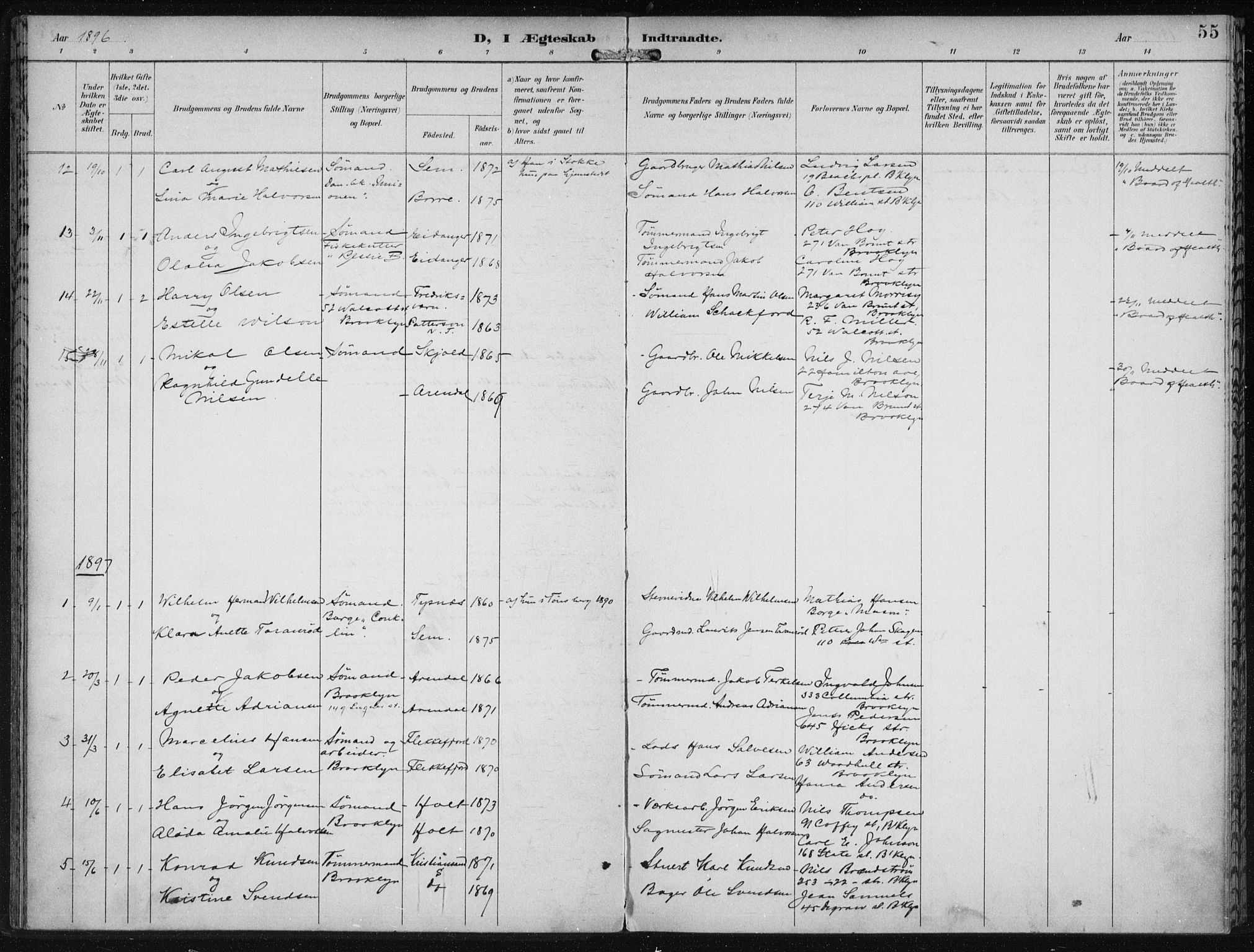 SAB, Den Norske Sjømannsmisjon i utlandet*, Ministerialbok nr. A 4, 1893-1901, s. 55