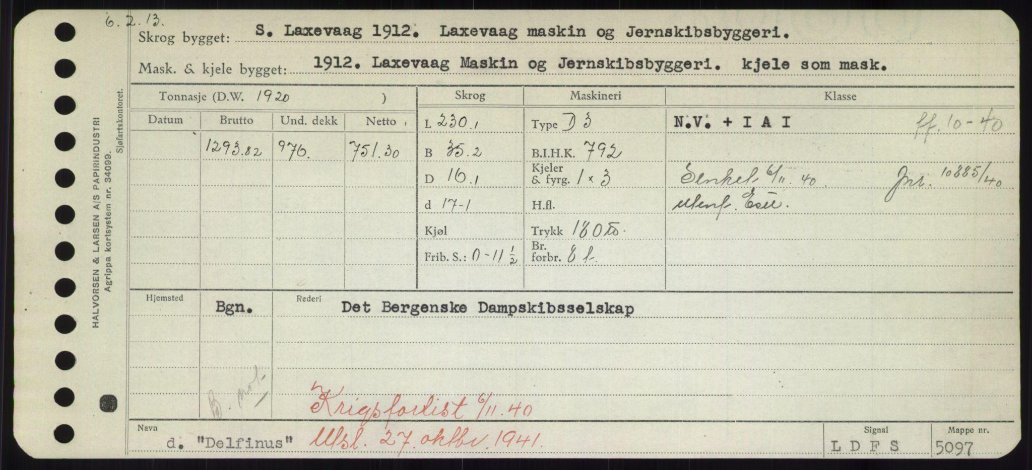 RA, Sjøfartsdirektoratet med forløpere, Skipsmålingen, H/Hd/L0008: Fartøy, C-D, s. 439