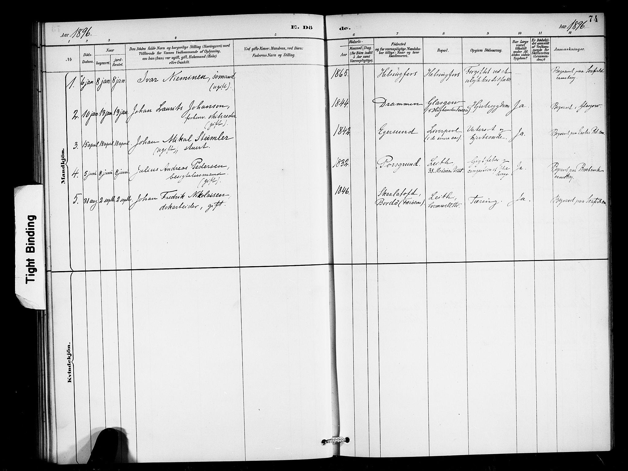 SAB, Den Norske Sjømannsmisjon i utlandet*, Ministerialbok nr. A 2, 1887-1898, s. 74
