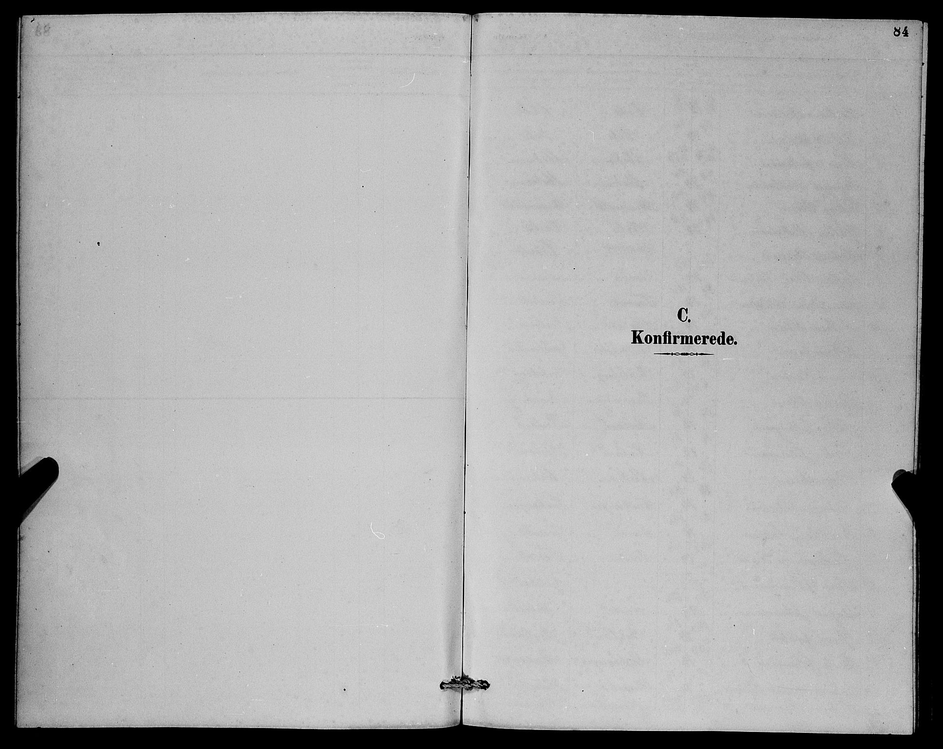 SAB, Herdla Sokneprestembete, H/Hab: Klokkerbok nr. A 3, 1889-1899, s. 84