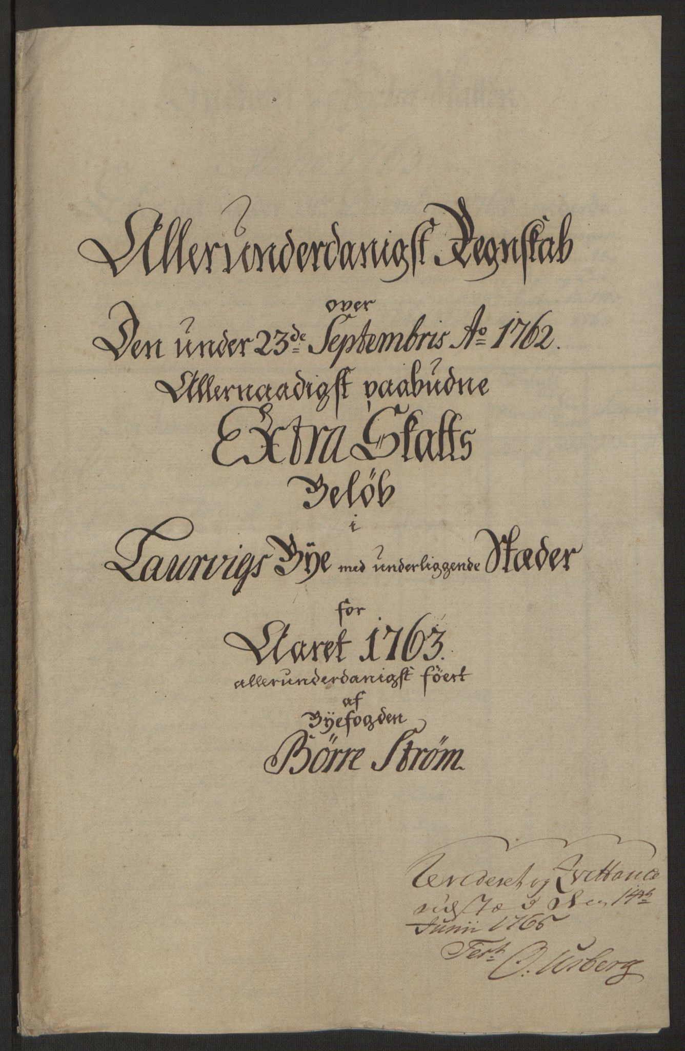 RA, Rentekammeret inntil 1814, Reviderte regnskaper, Byregnskaper, R/Ri/L0183: [I4] Kontribusjonsregnskap, 1762-1768, s. 81
