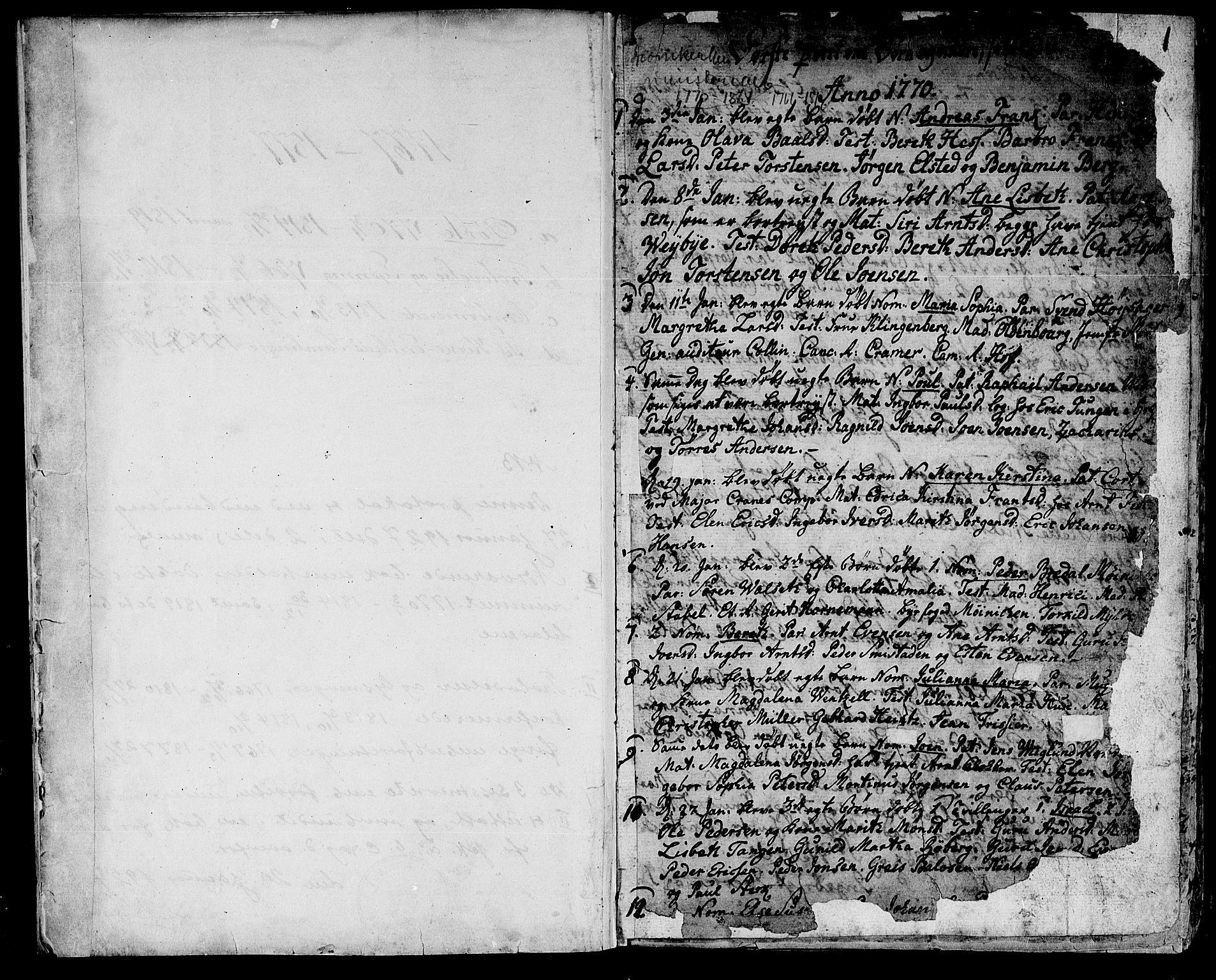 SAT, Ministerialprotokoller, klokkerbøker og fødselsregistre - Sør-Trøndelag, 601/L0039: Ministerialbok nr. 601A07, 1770-1819, s. 1