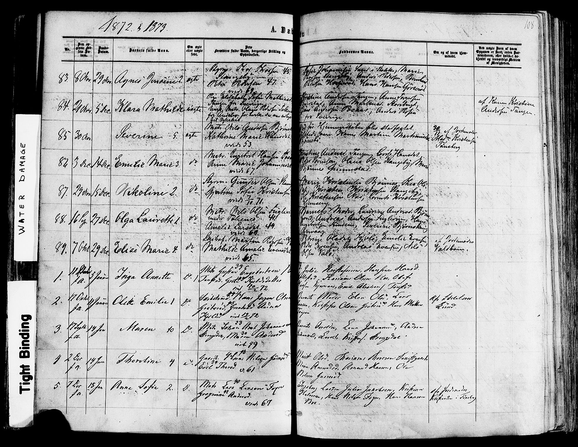 SAKO, Nøtterøy kirkebøker, F/Fa/L0007: Ministerialbok nr. I 7, 1865-1877, s. 108