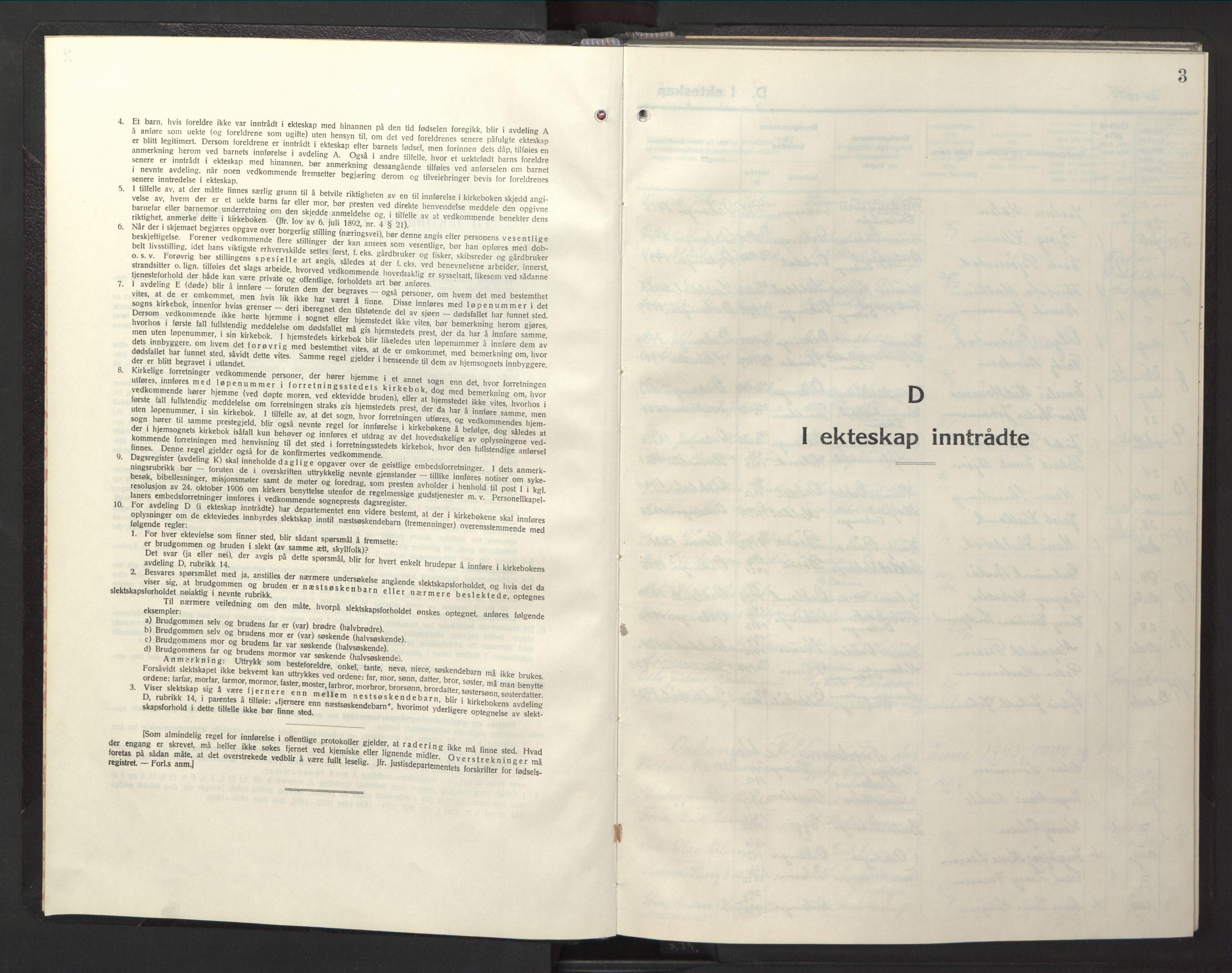 SAT, Ministerialprotokoller, klokkerbøker og fødselsregistre - Sør-Trøndelag, 669/L0833: Klokkerbok nr. 669C03, 1945-1950, s. 3