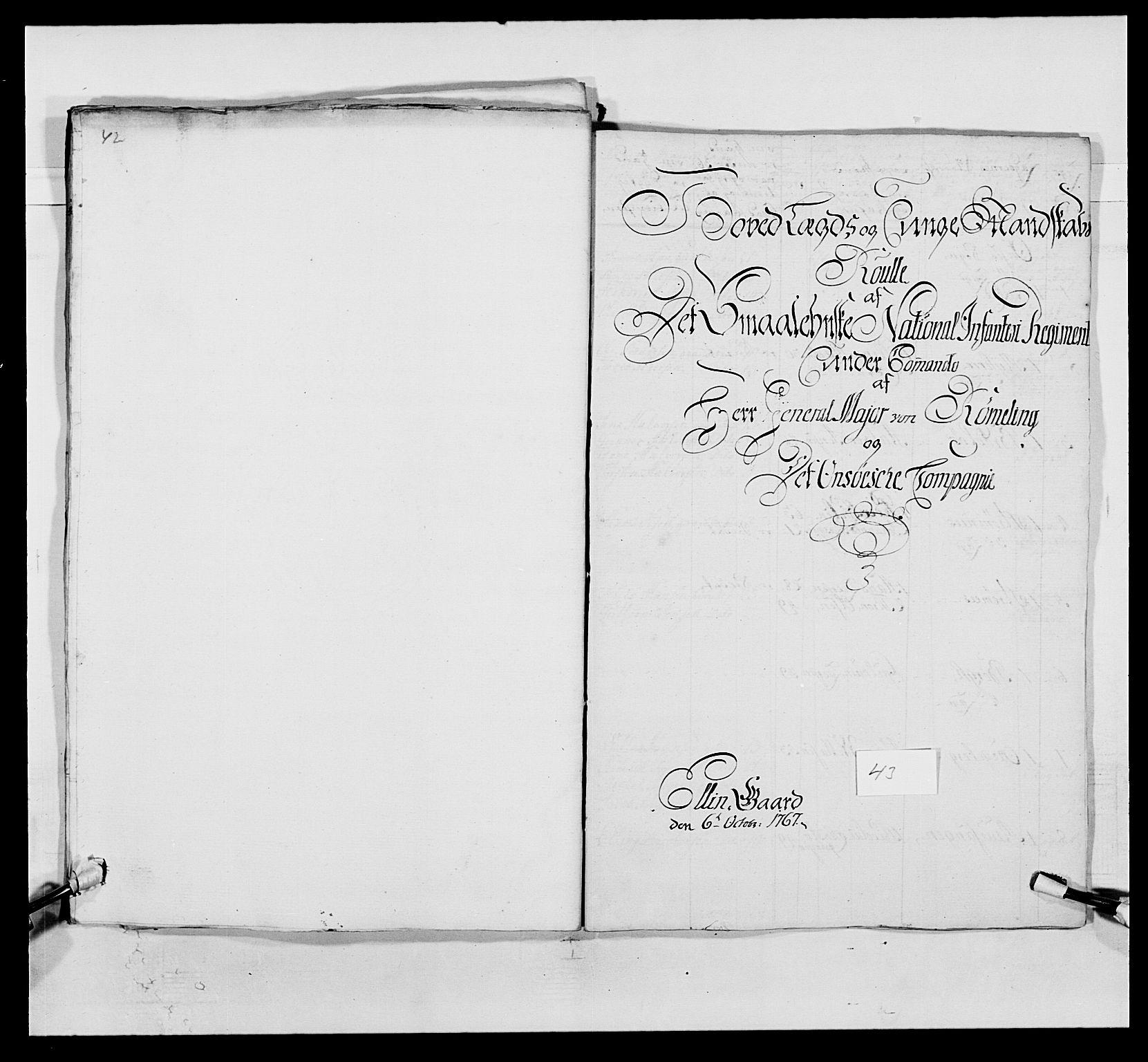 RA, Kommanderende general (KG I) med Det norske krigsdirektorium, E/Ea/L0496: 1. Smålenske regiment, 1765-1767, s. 832