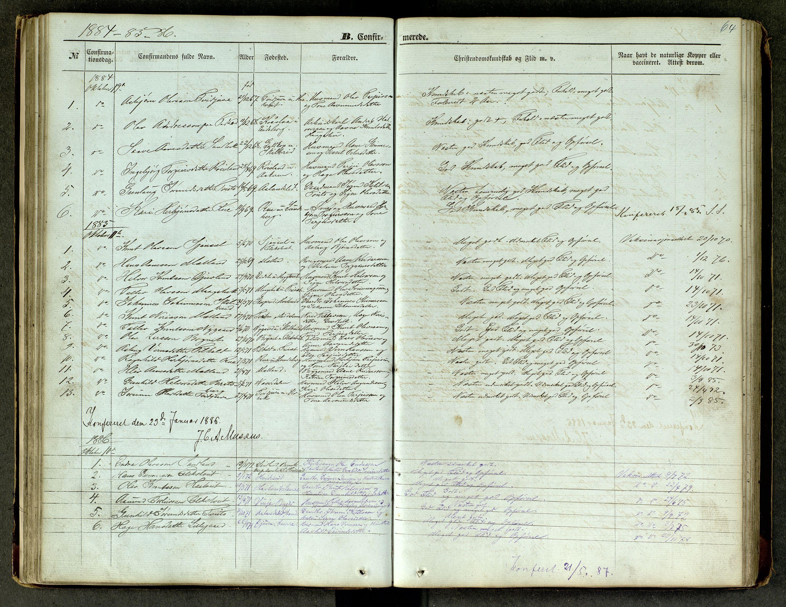SAKO, Lårdal kirkebøker, G/Ga/L0002: Klokkerbok nr. I 2, 1861-1890, s. 64