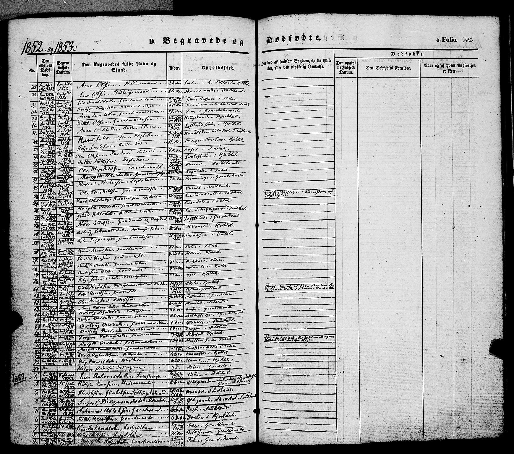 SAKO, Hjartdal kirkebøker, F/Fa/L0008: Ministerialbok nr. I 8, 1844-1859, s. 302