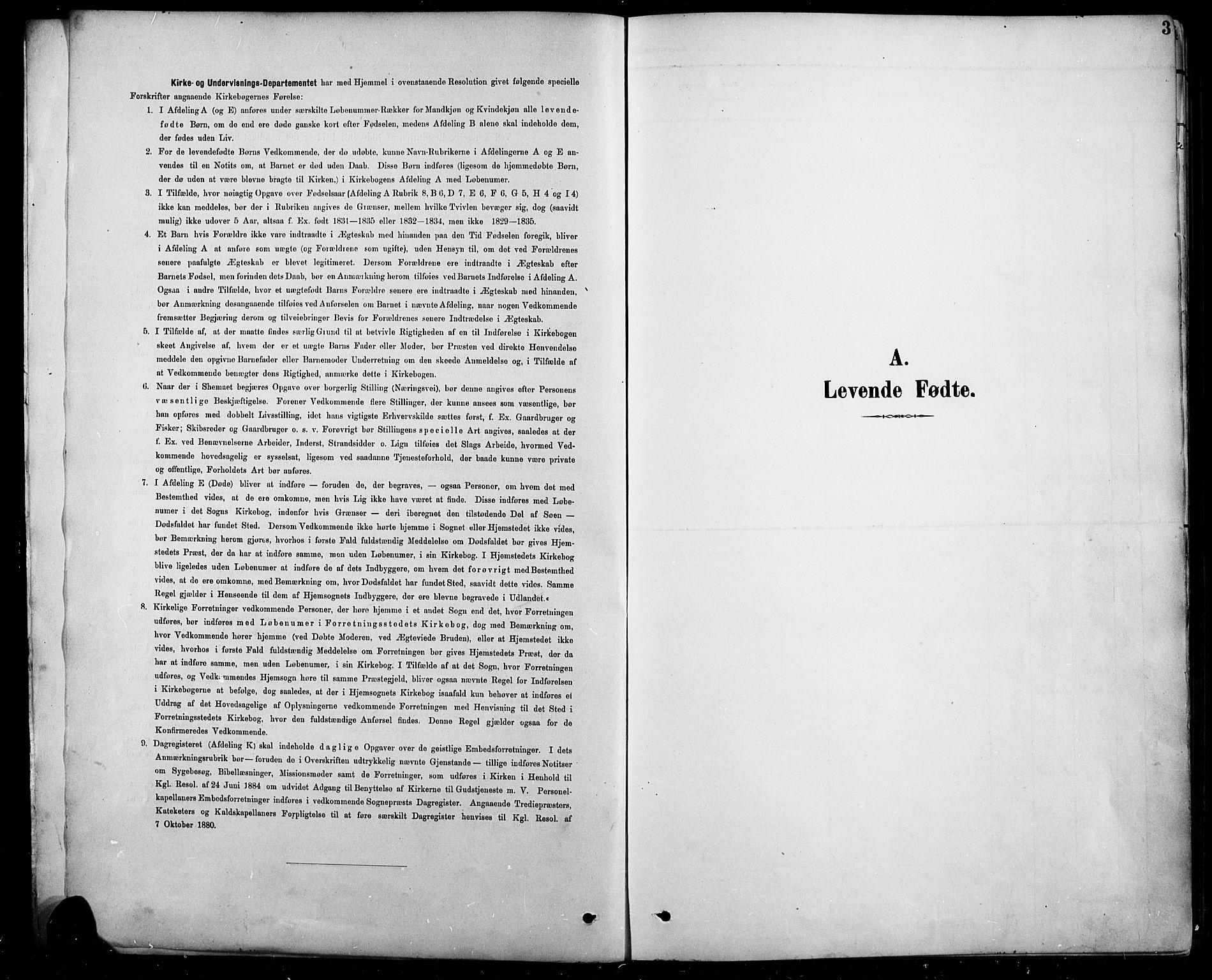 SAH, Sel prestekontor, Klokkerbok nr. 5, 1894-1923, s. 3