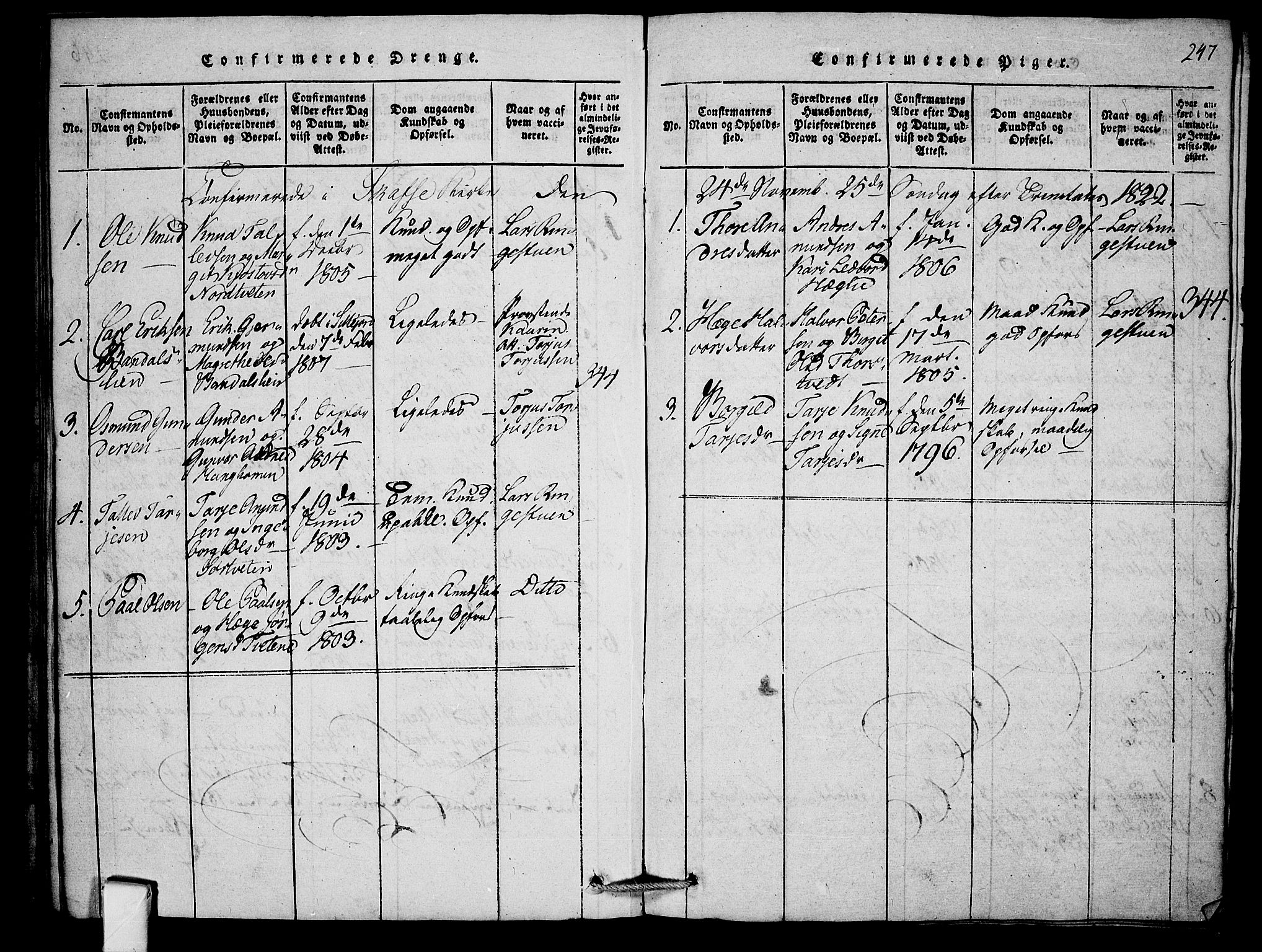 SAKO, Mo kirkebøker, F/Fb/L0001: Ministerialbok nr. II 1, 1814-1844, s. 247