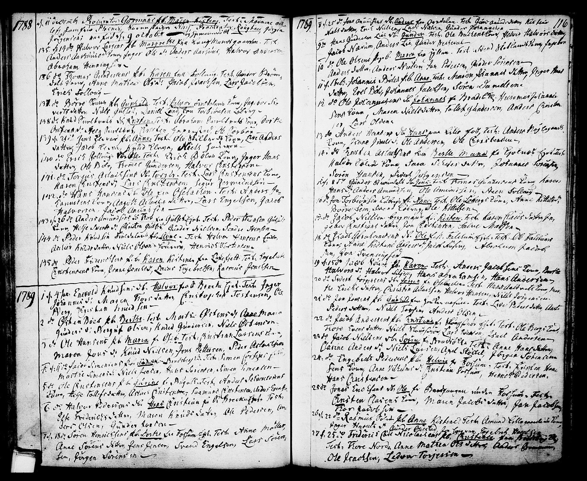 SAKO, Gjerpen kirkebøker, F/Fa/L0002: Ministerialbok nr. 2, 1747-1795, s. 116