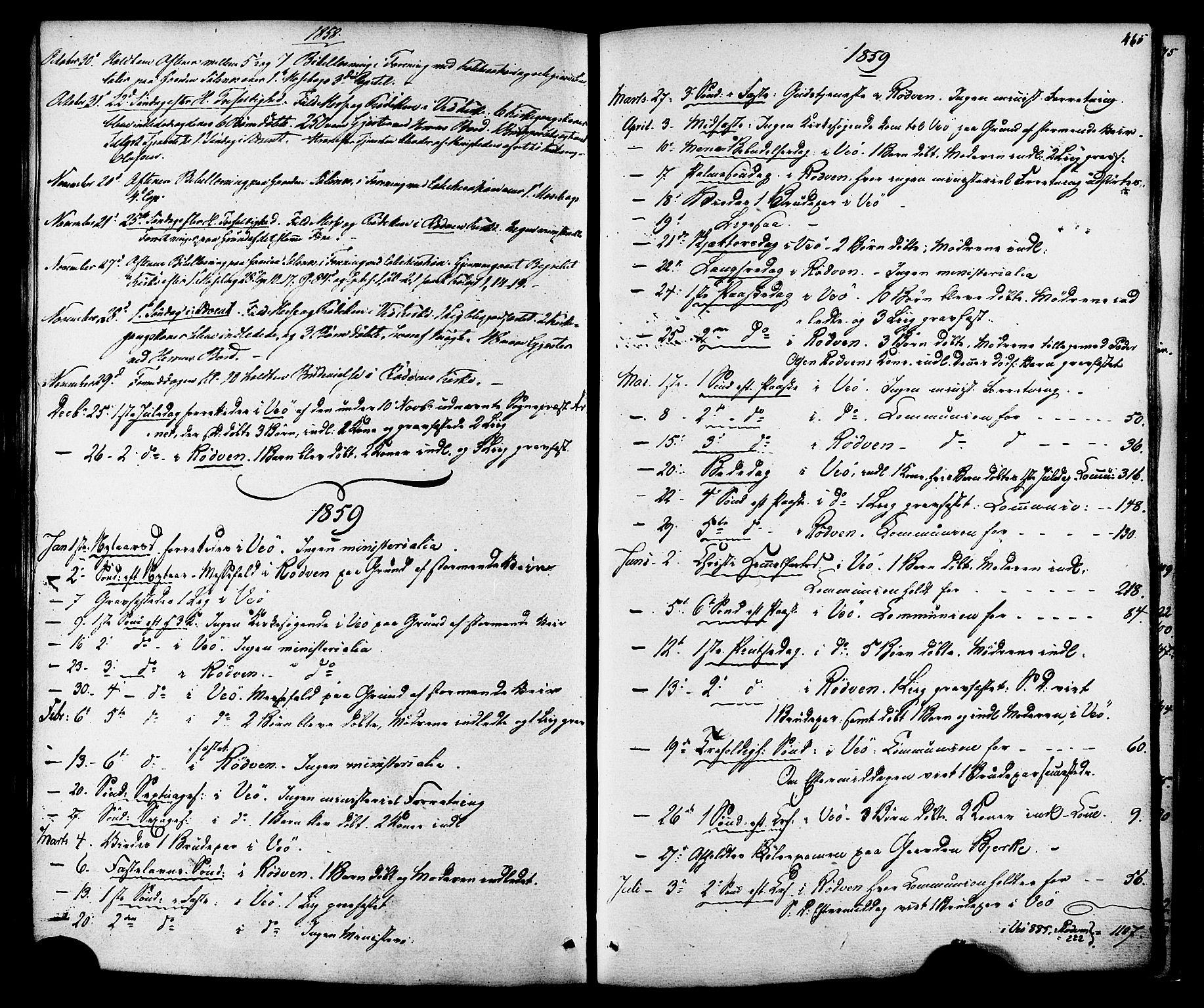 SAT, Ministerialprotokoller, klokkerbøker og fødselsregistre - Møre og Romsdal, 547/L0603: Ministerialbok nr. 547A05, 1846-1877, s. 465