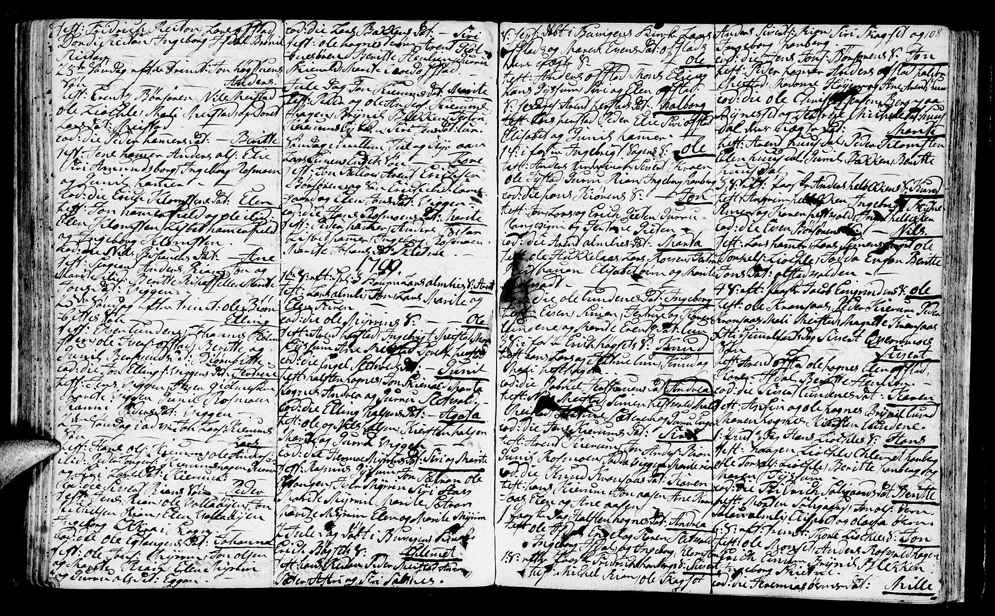 SAT, Ministerialprotokoller, klokkerbøker og fødselsregistre - Sør-Trøndelag, 665/L0768: Ministerialbok nr. 665A03, 1754-1803, s. 108